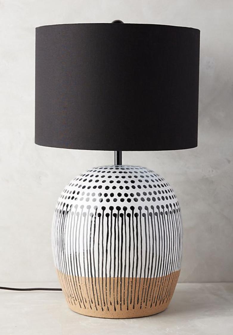 Uteki Painted Lamp