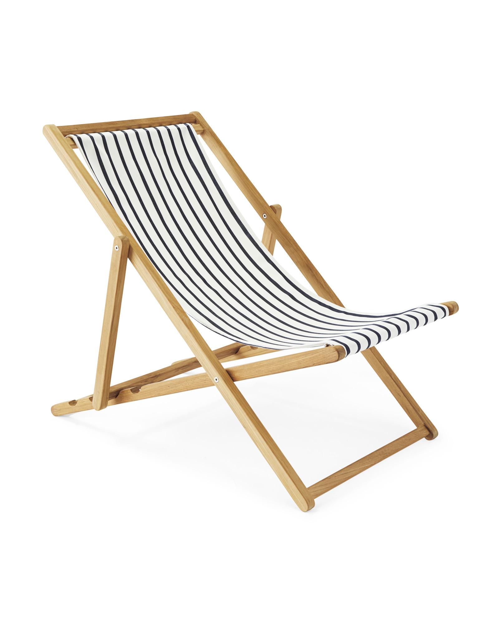 Stripe Teak Sliding Chair