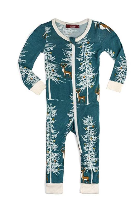 Bamboo Christmas Zipper Pajama