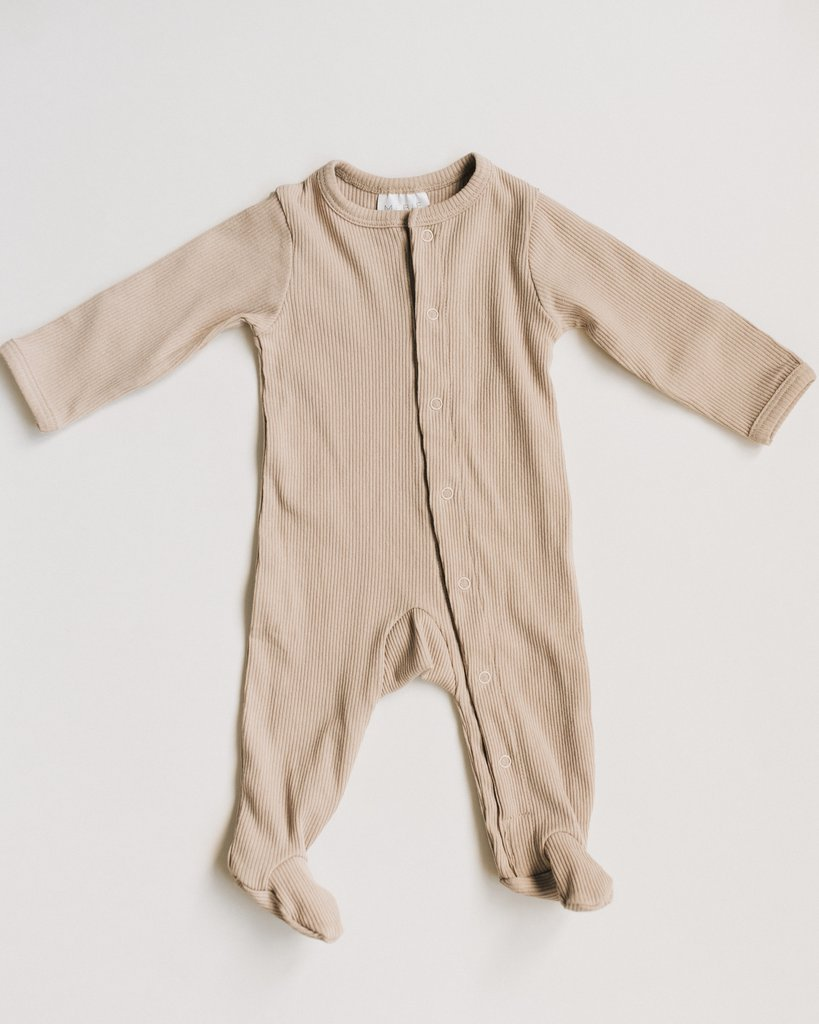 Sand Ribbed Footed One Piece