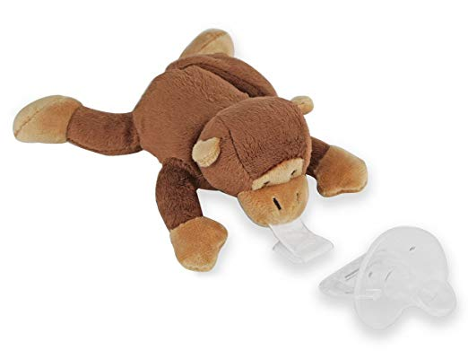 Monkey With Detachable Infant Pacifier