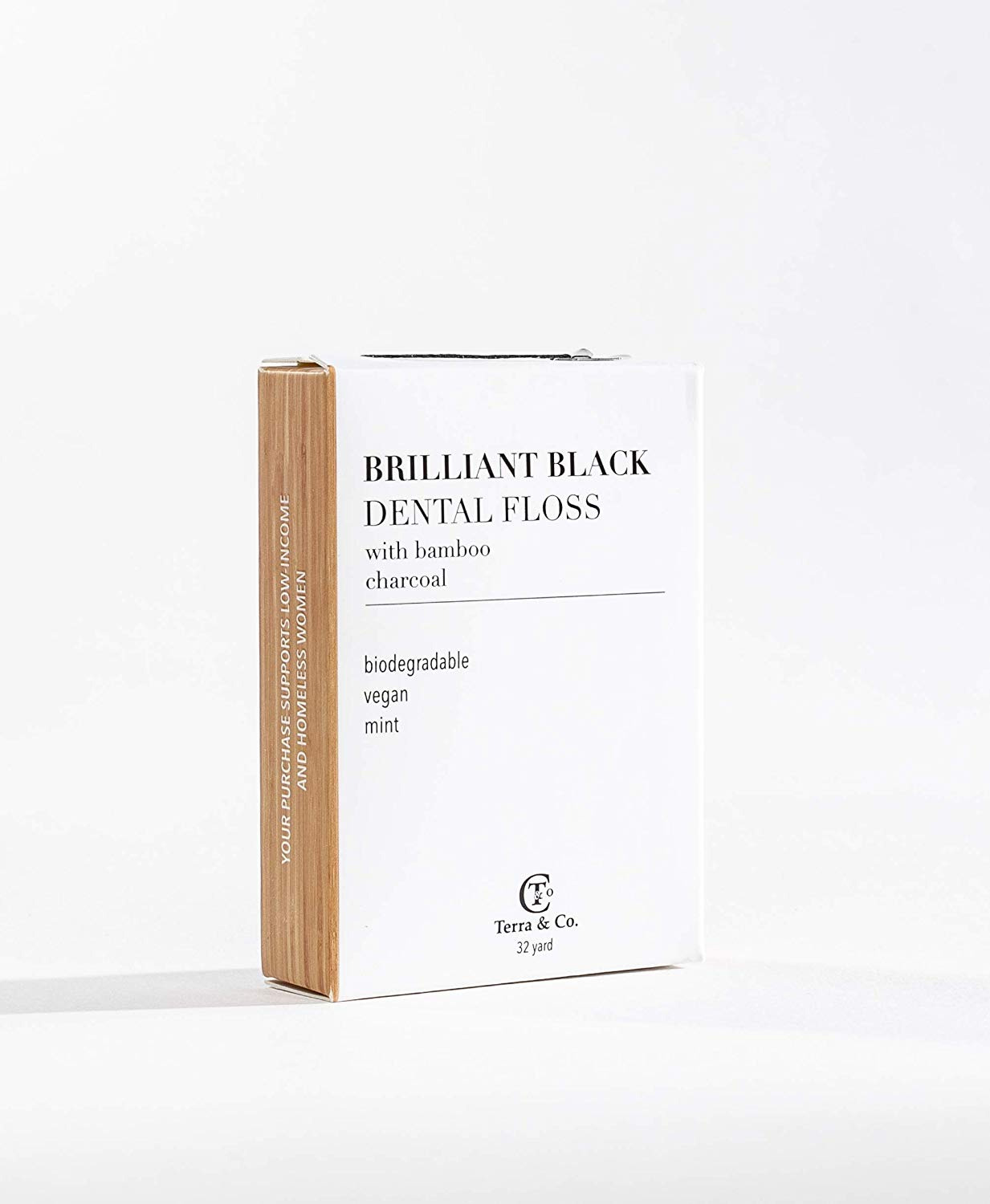 Terra & Co Brilliant Black Dental Floss With Bamboo Charcoal