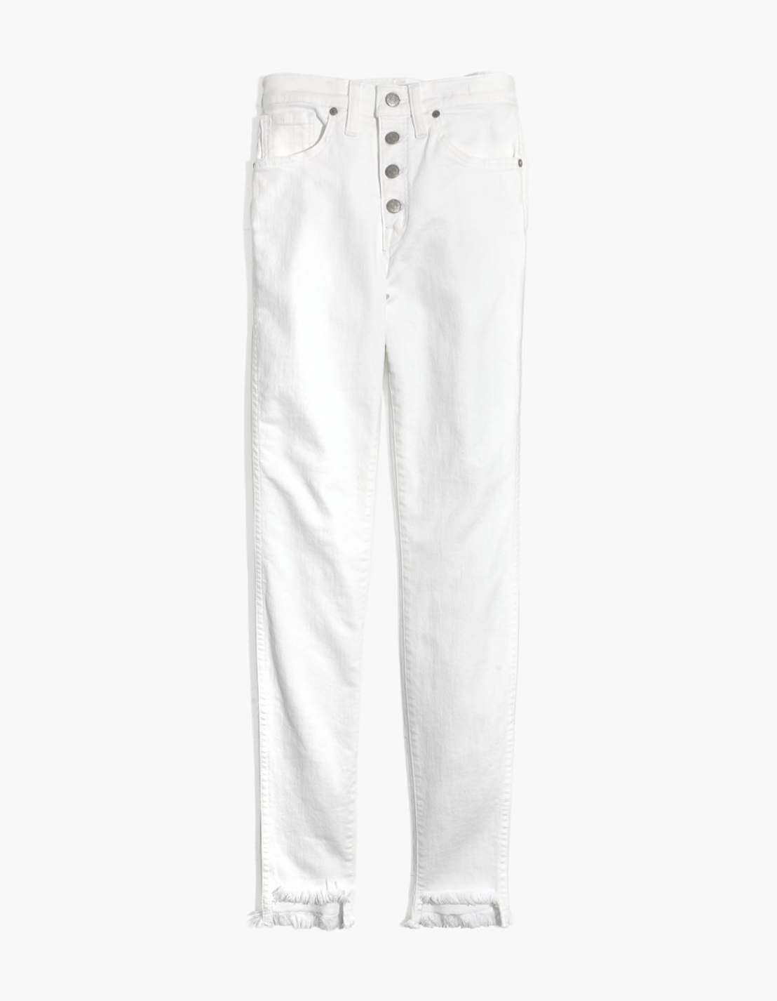 "10"" High-Rise Pure White Skinny Jeans"