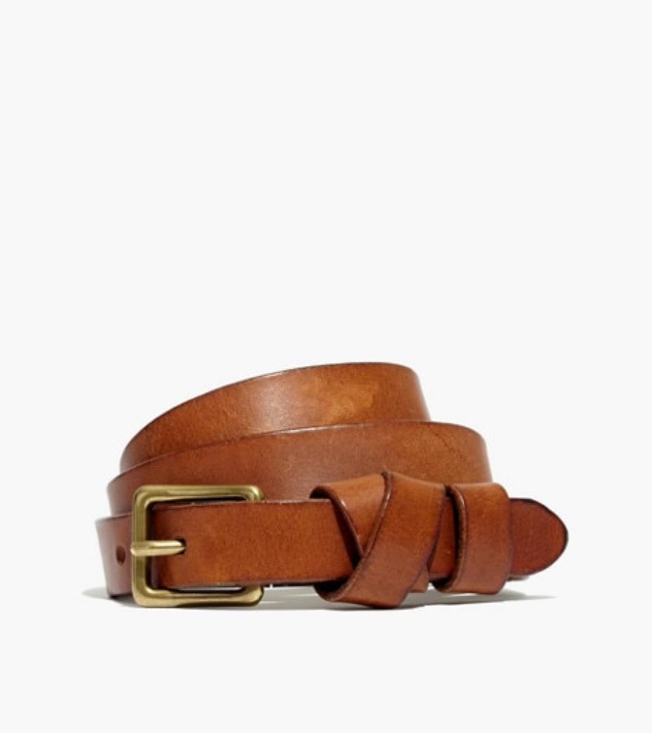 Leather Crisscross Skinny Belt