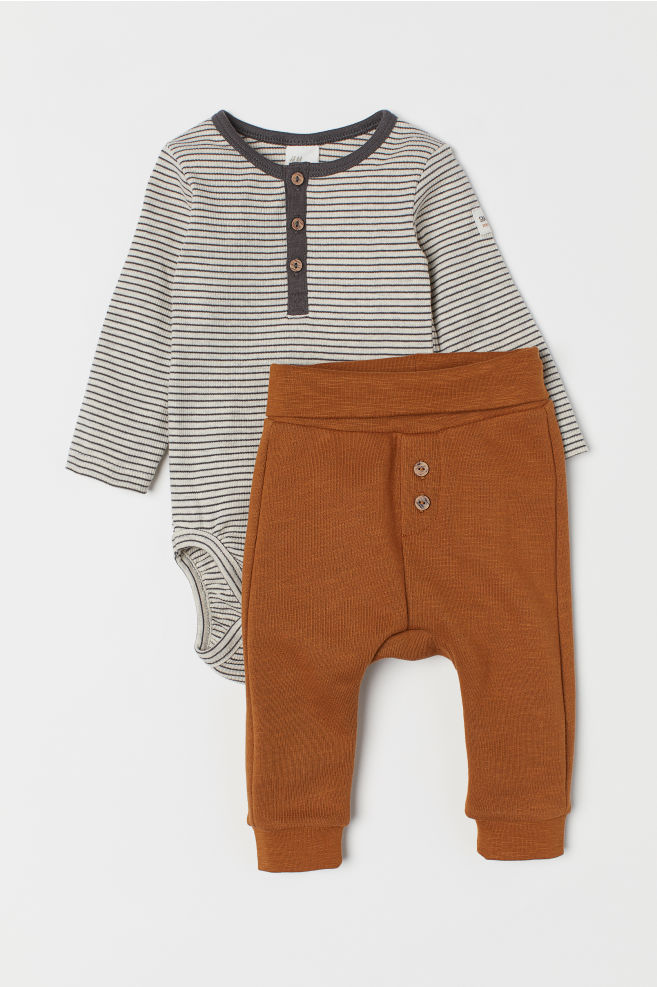 Cotton Bodysuit and Trousers