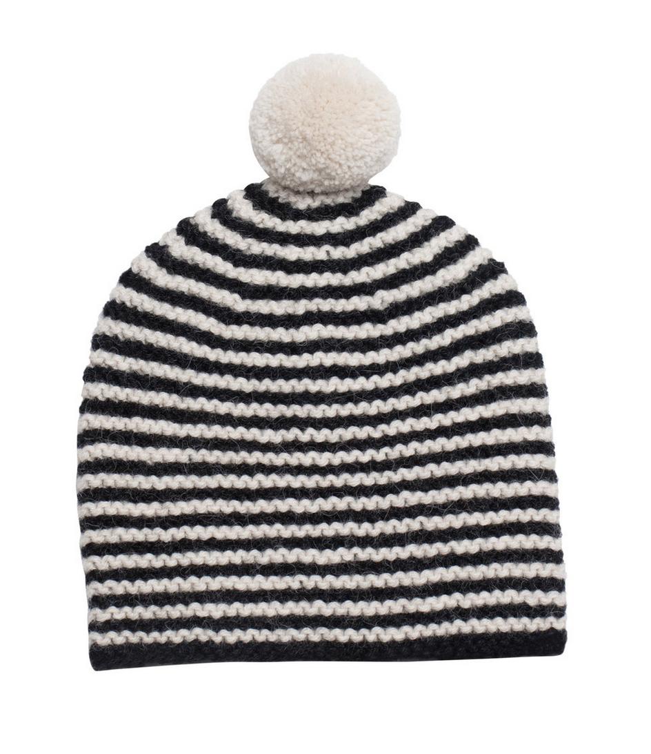 Striped Pom Hat