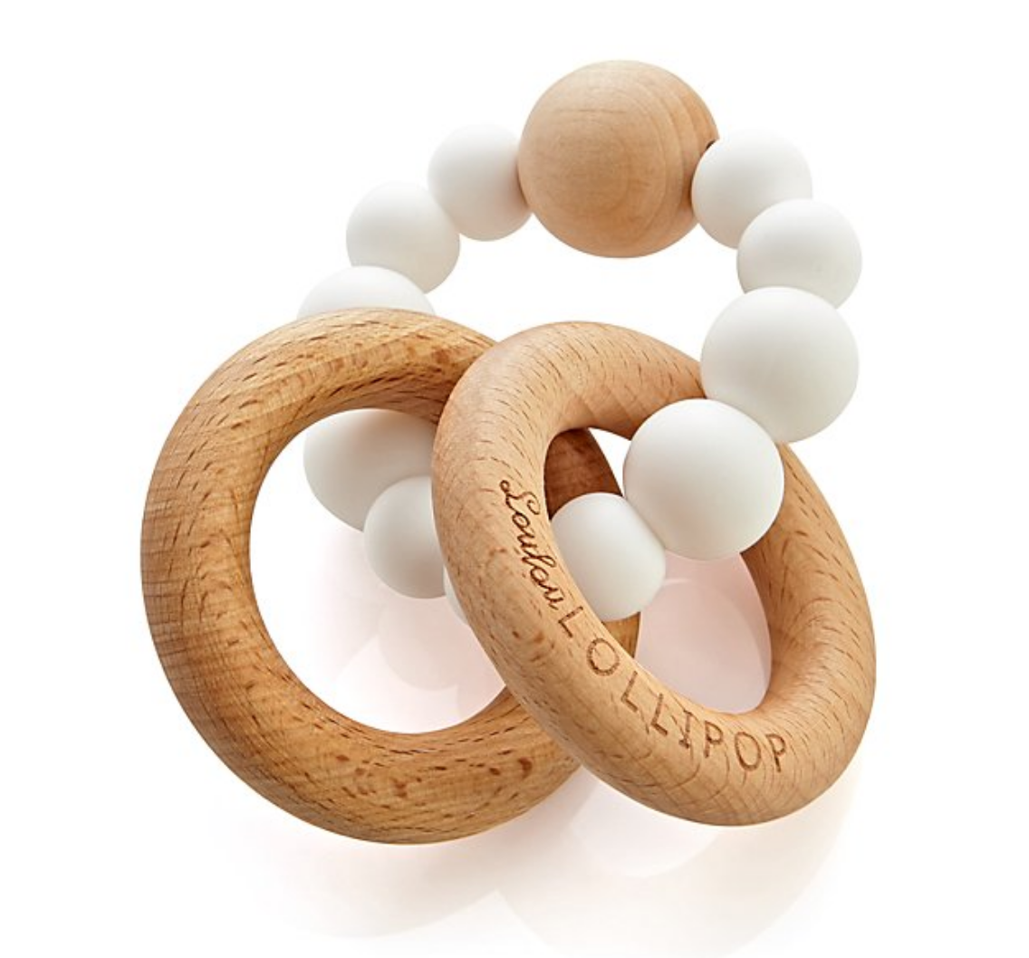 Wooden & White Teether