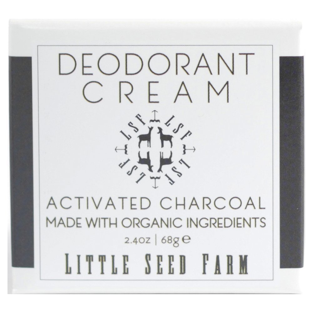Natural Aluminum-Free Activated Charcoal Deodorant Cream