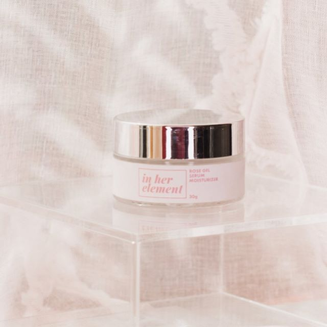 """Our Rose Gel Serum Moisturizer gets five out of five stars from Mariz at BeautyMNL. She shares, """"I bought this out of desperate need. My face has dry patches around the nose and lips area. The gel feels so good on my skin. It wasn't as spreadable as other light moisturizers - it has a slightly tacky feel after application.  But love, love, love the rose scent! After the first night I applied it on my face, the dry patches were gone. I was very surprised that I got results instantly! My face felt softer, smoother, and more supple than ever. I've been using it on and off for three weeks and I didn't break out and my skin is better than ever!"""" Thanks Mariz. ✨  Find our products at @beautymnl and at www.inherelement.ph."""