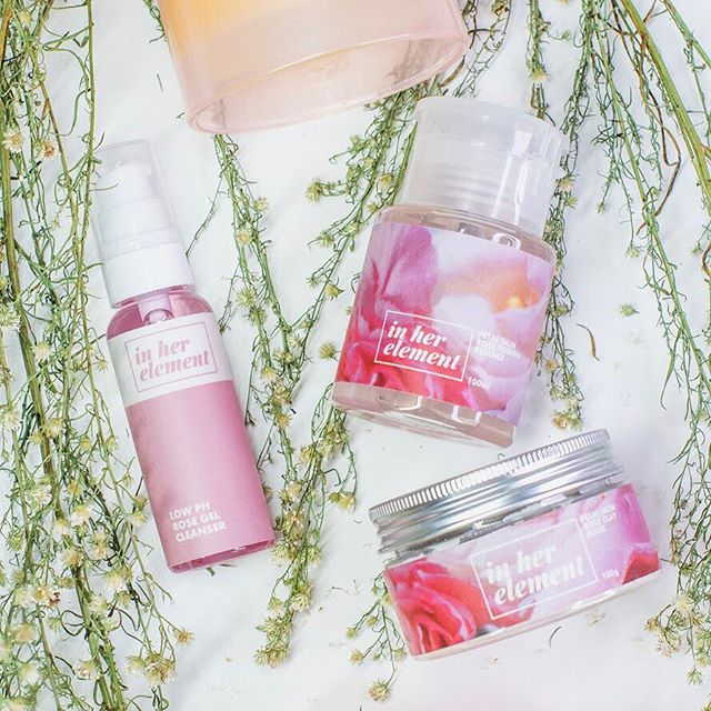 Get your glow on in three easy steps! Our 1, 2, 3 Glow Bundle (P1895) curates a 3-step routine for radiant, even skin. First, cleanse with our Mini Low pH Rose Gel Cleanser to maintain your skin's moisture barrier with its pH level of 5.5-6. Next, remove deep-seated dirt, oil, and dead skin with our Petal Skin Rose Clay Mask which has French Green Clay, the most gentle kind of clay mask. Finally, brighten and hydrate with our Petal Skin Rose Toning Essence which contains niacinamide to help improve skin tone.  This bundle is only available at www.inherelement.ph, so make sure to get yours now! Limited stocks only.