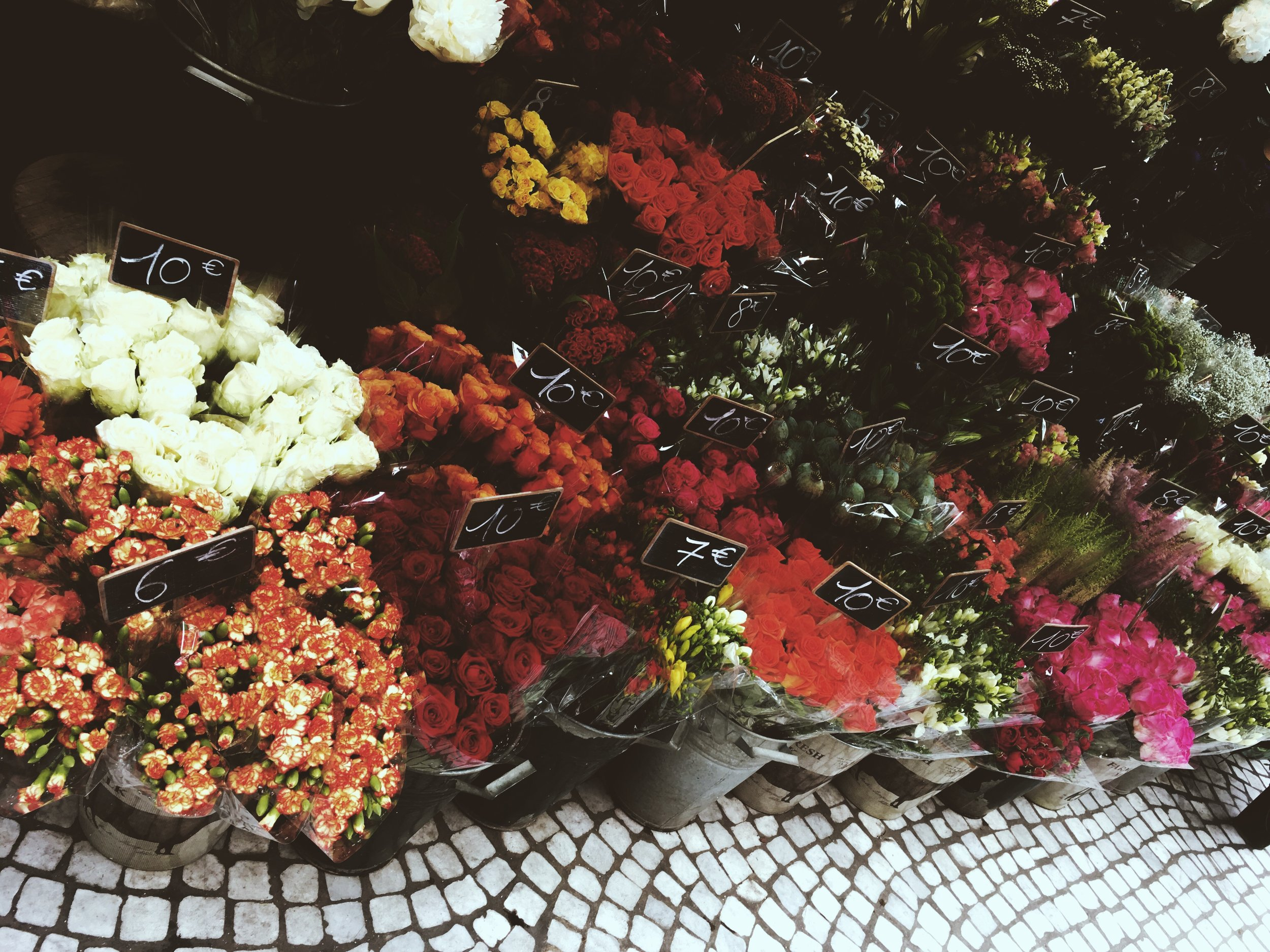 somewhere there was a flower market