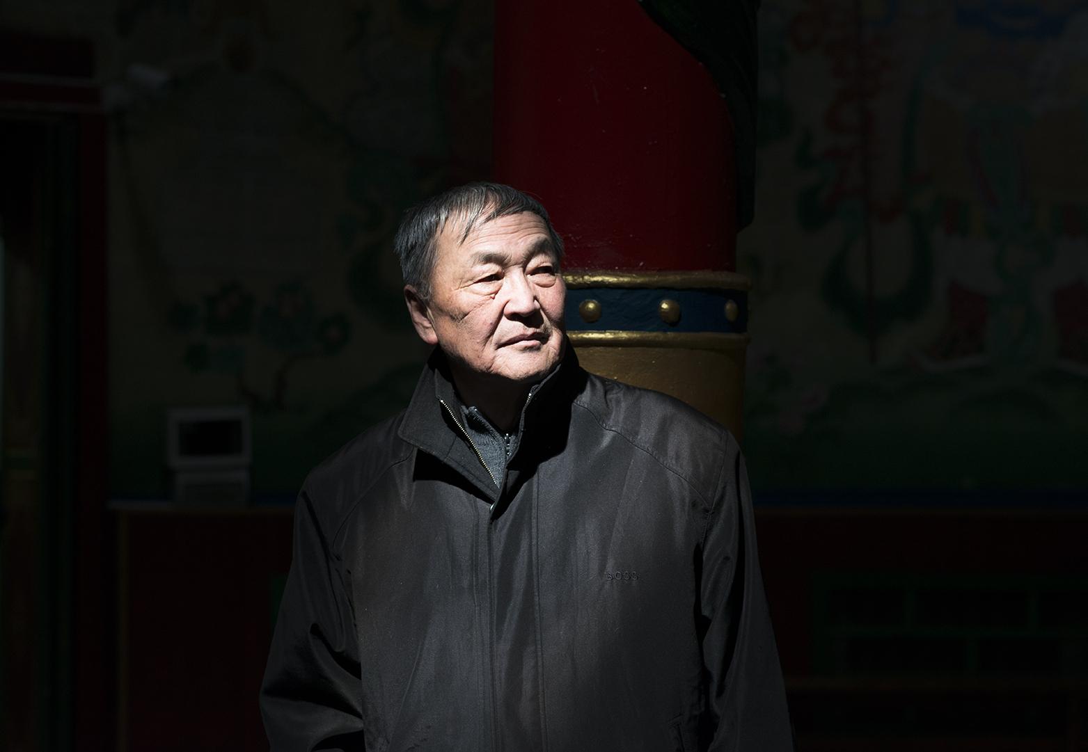 Dr Shaariibuu Setev at a Buddhist temple in Ulaanbaatar, Mongolia on April, 2016