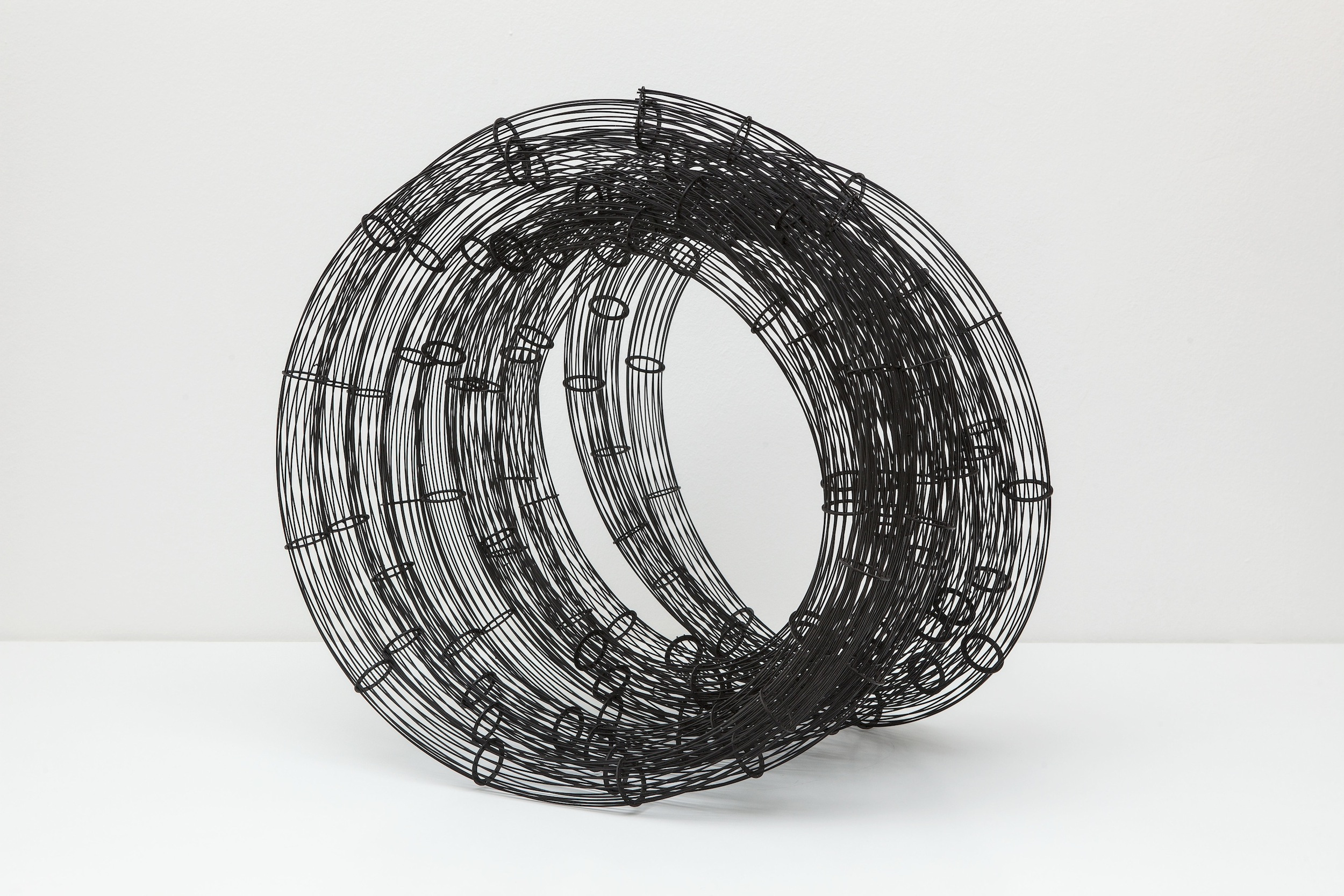 Untitled (Winding)    Soldered Steel and Enamel Paint  75 x 80 x 60 cm