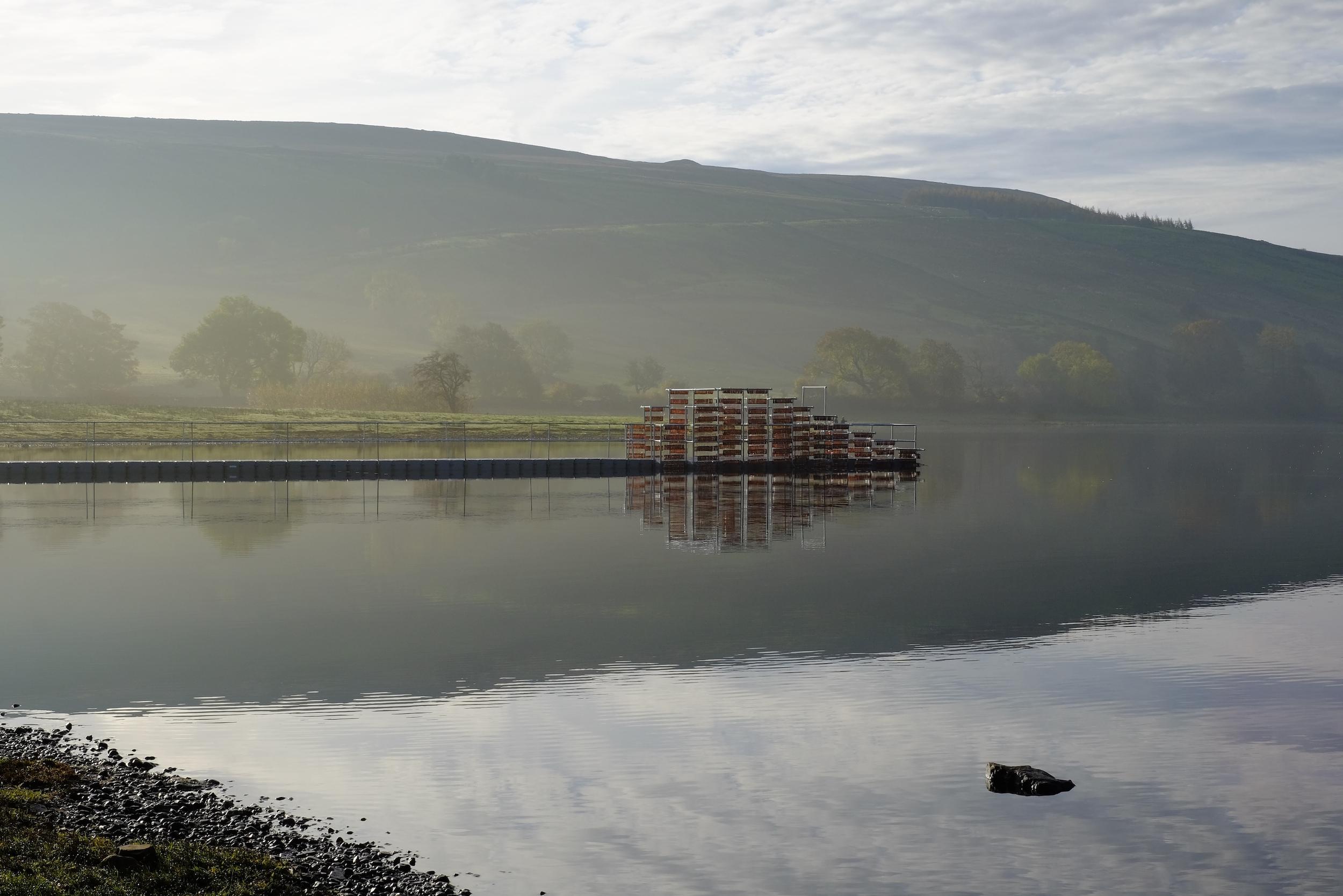 Semerwater Spear   Installation on Lake Semerwater, Yorkshire, UK