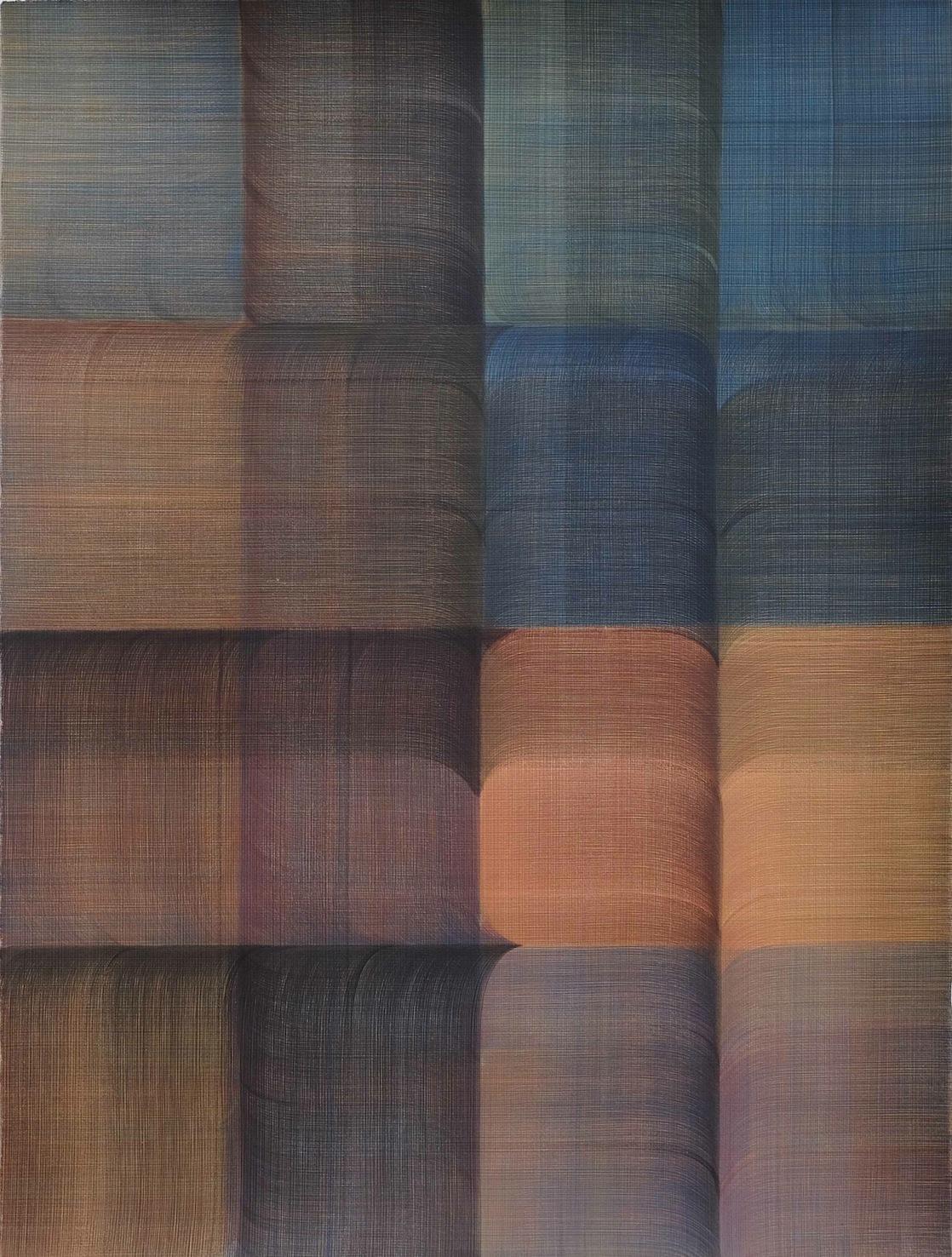 Untitled   Casein Paint on Paper  76 x 56 cm