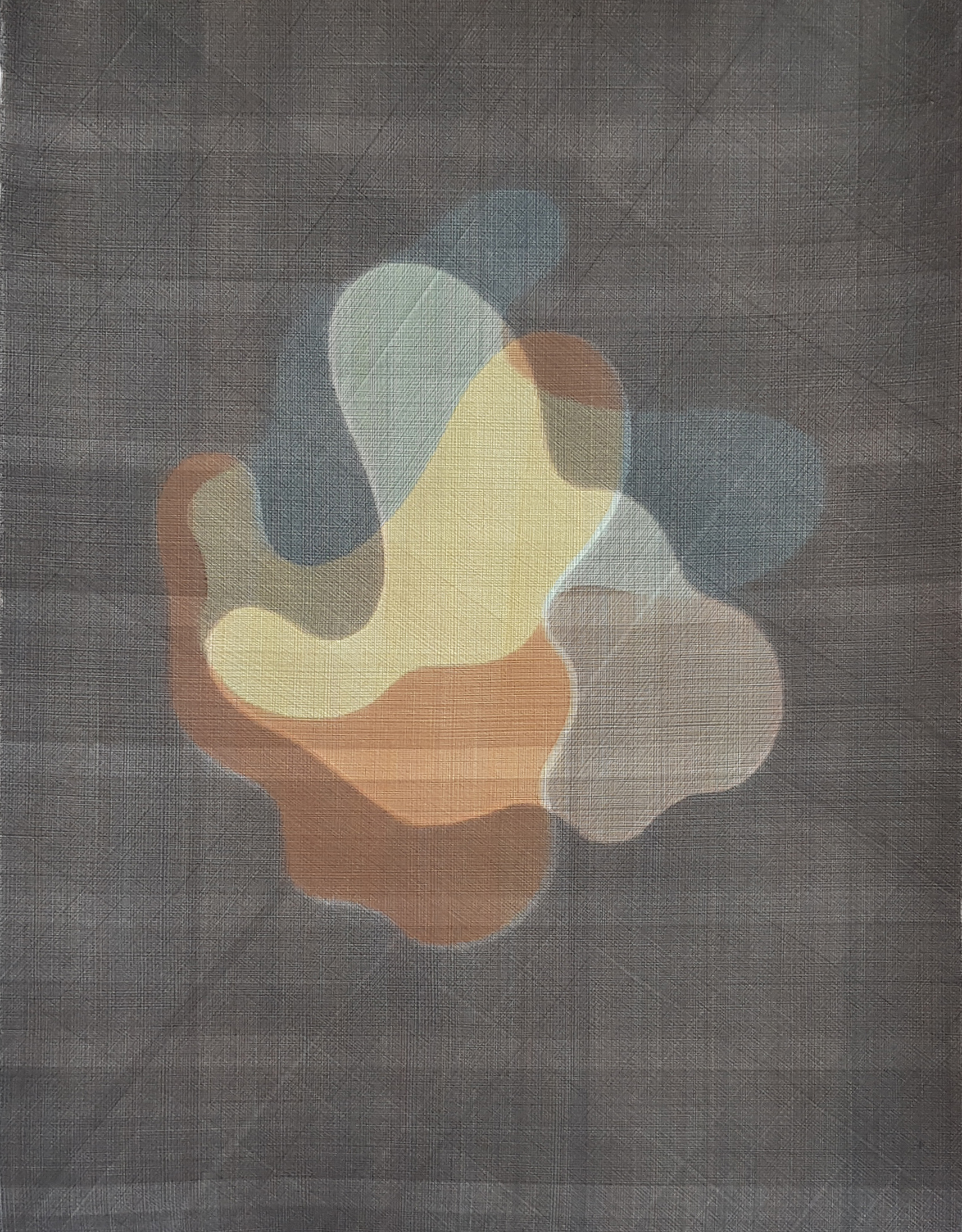 Untitled (Rotation)   Casein Paint on Paper  76 x 56 cm