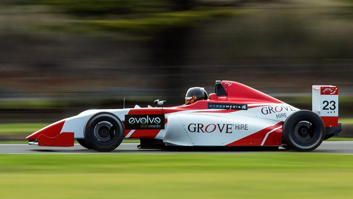 Brenton Grove is seen in his F4 machine