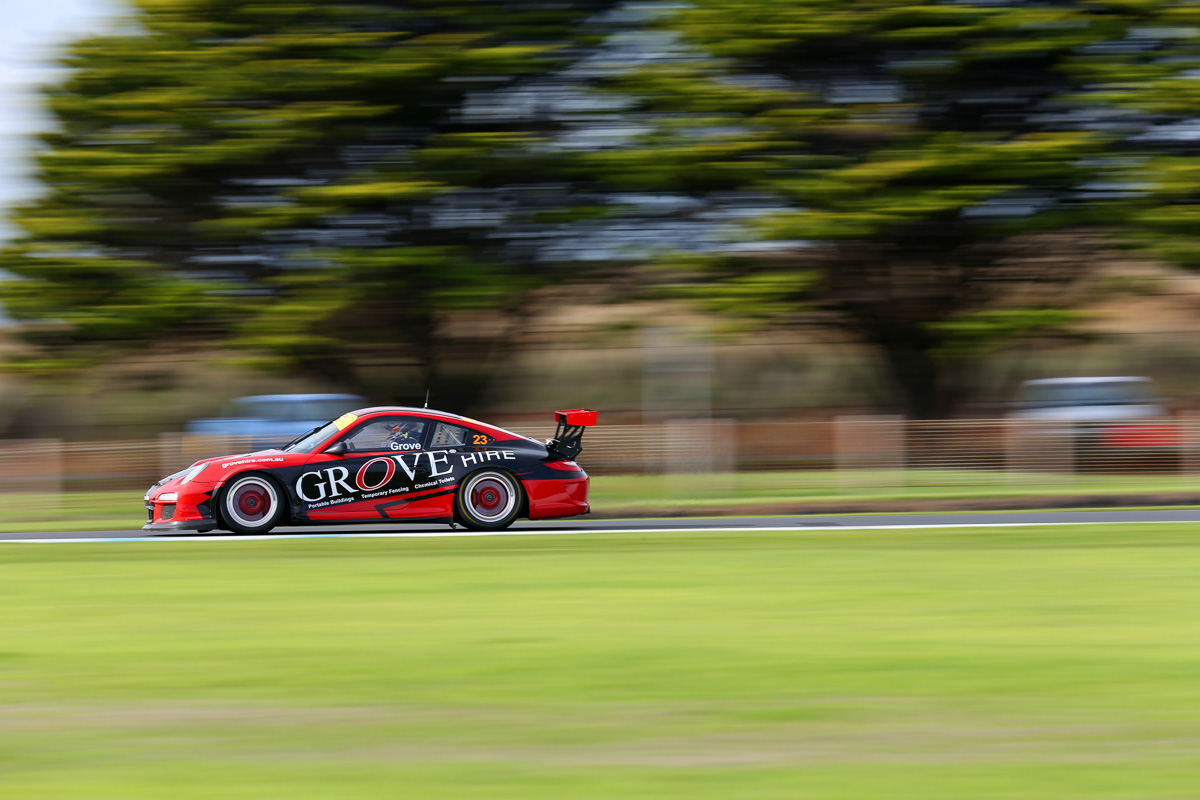 Brenton Grove at Round Two of GT3 Cup Challenge earlier in the year at Phillip Island