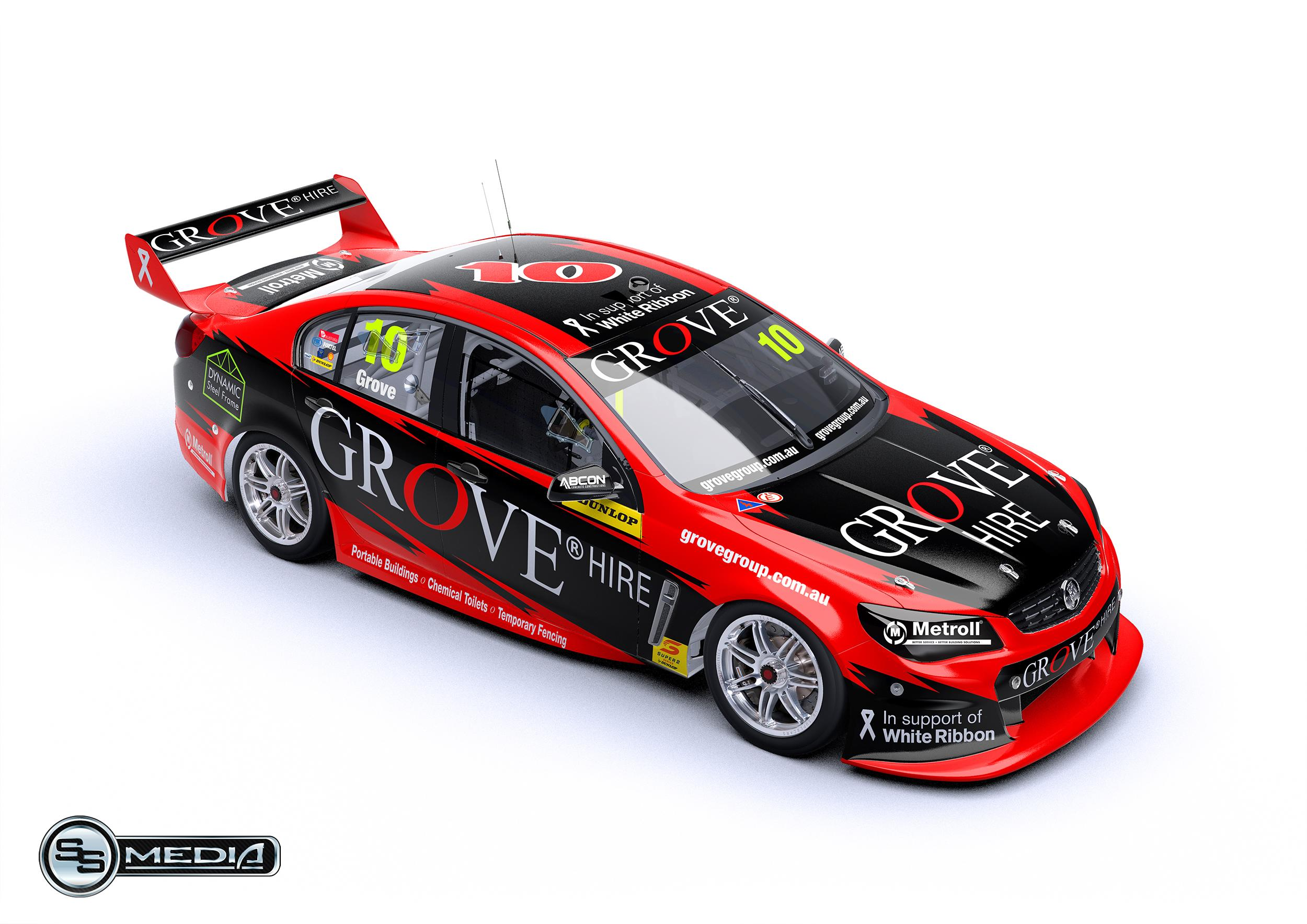 A render of the livery Brenton Grove will be running in the Dunlop Super2 Series this year.