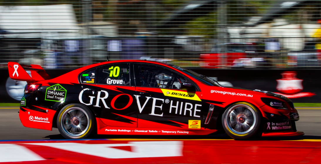 The Grove Racing fielded Holden VF Commodore which Brenton Grove drives in the Dunlop Super2 Series