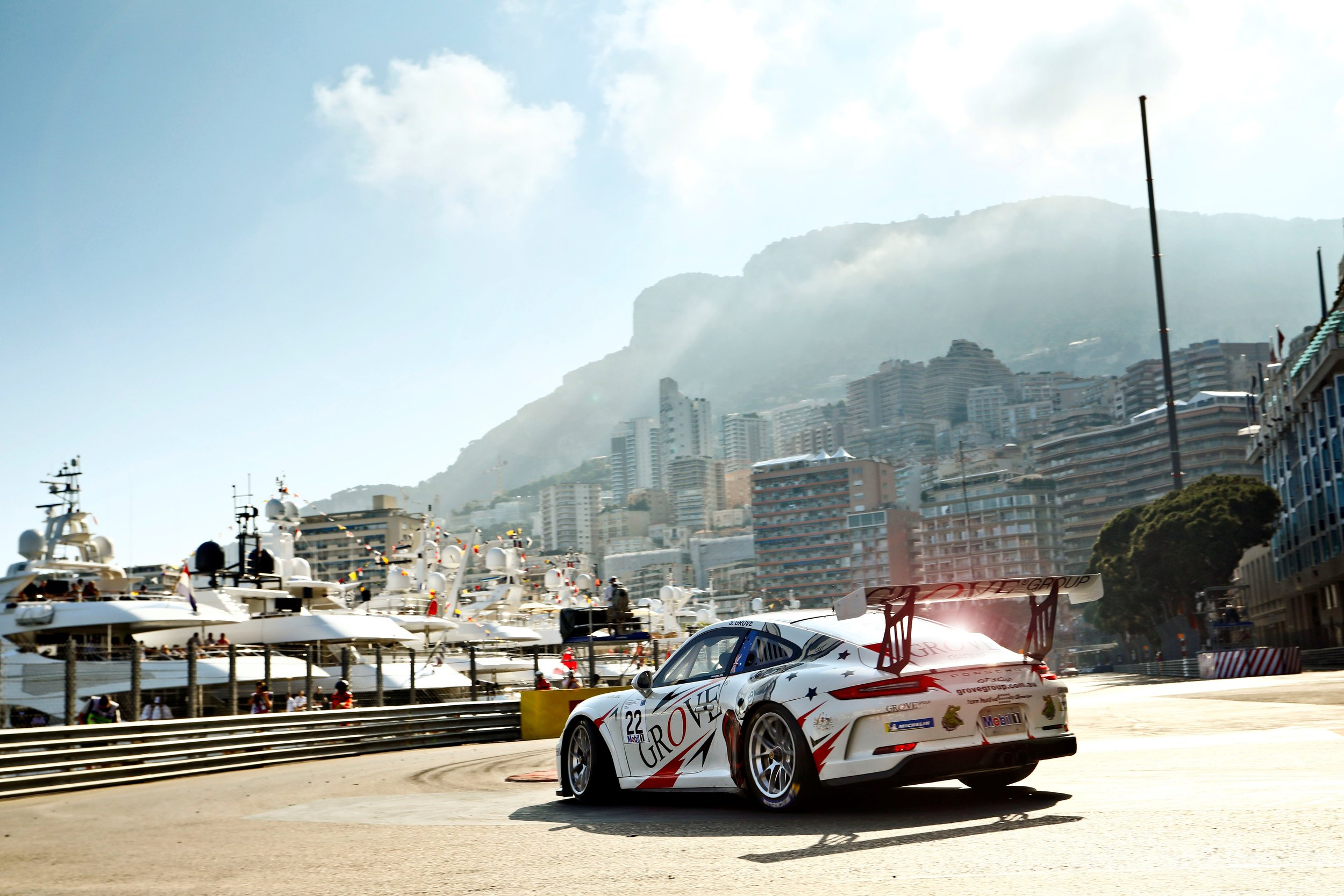 Stephen Grove took on the streets of Monaco in Porsche Mobil 1 Supercup in May.