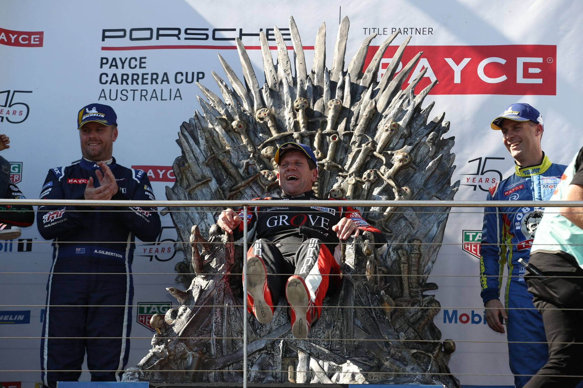 Stephen Grove got to sit on the throne for the special Game of Thrones round.