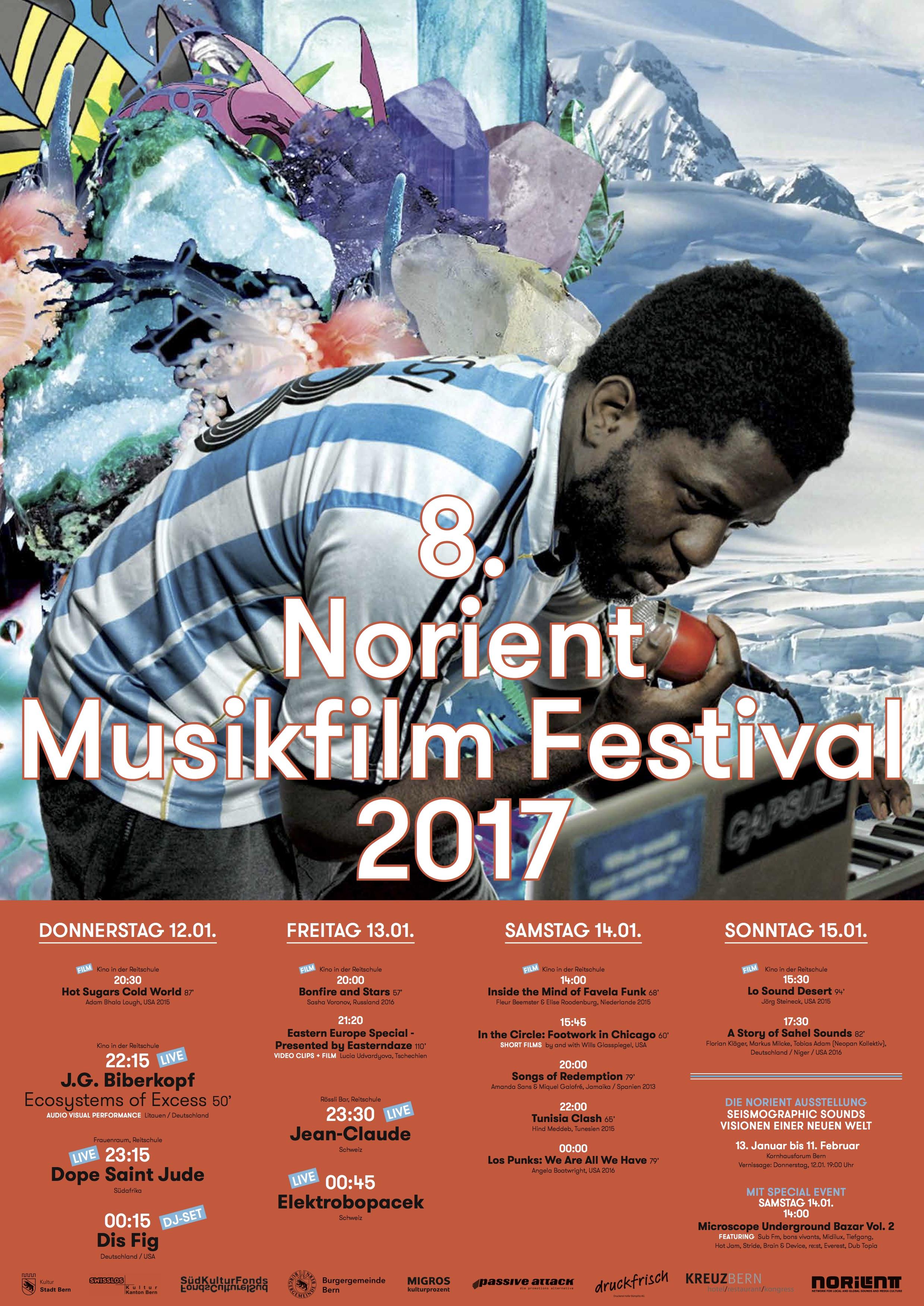 Download festival poster 2018 Art Design: Chino Amobi (USA) & Annegreth Schärli (Switzerland)