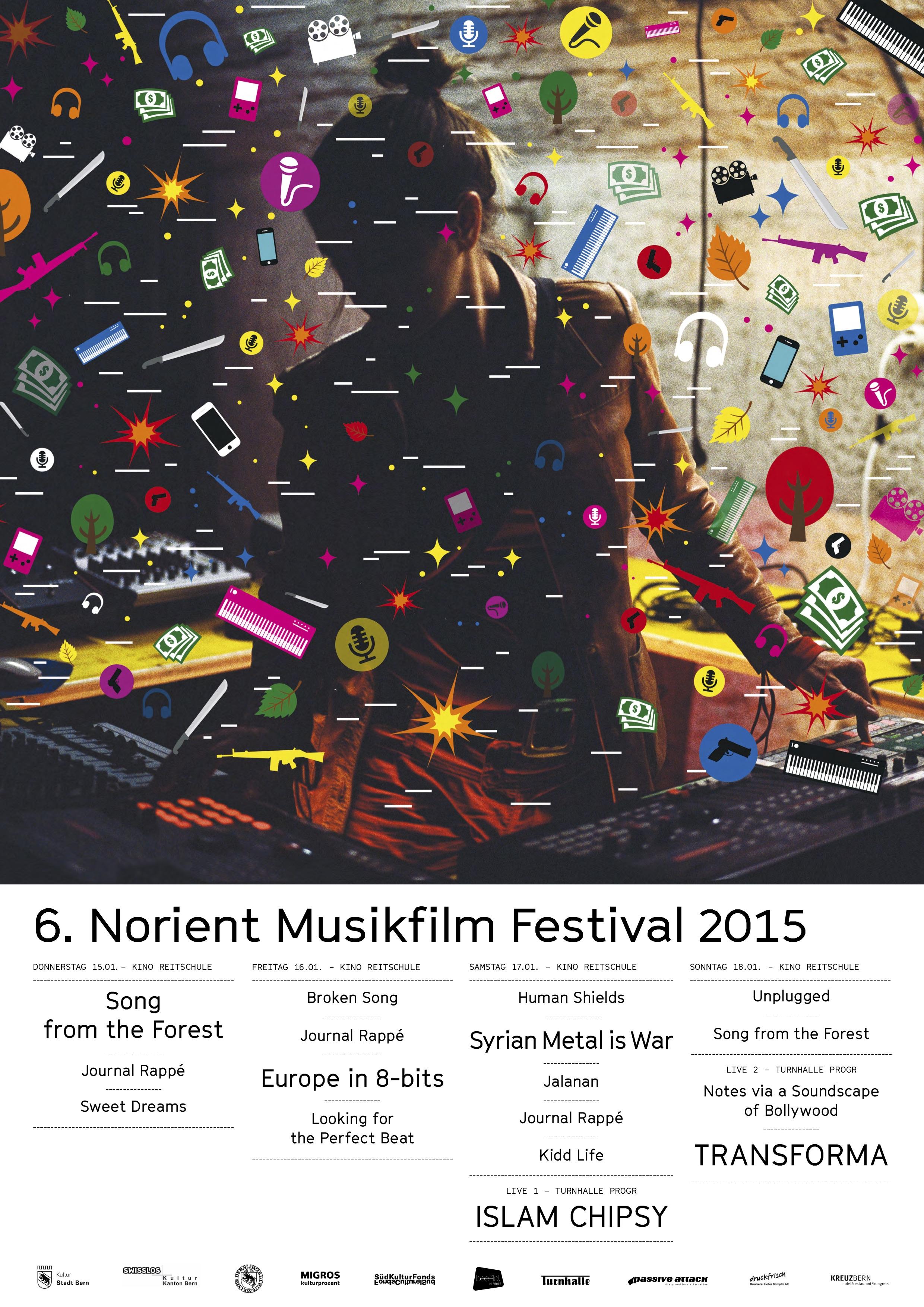 Download festival poster 2015 Art Design: Artemproot (Ukraine), Michael Pfister & Irena Germano (Switzerland)