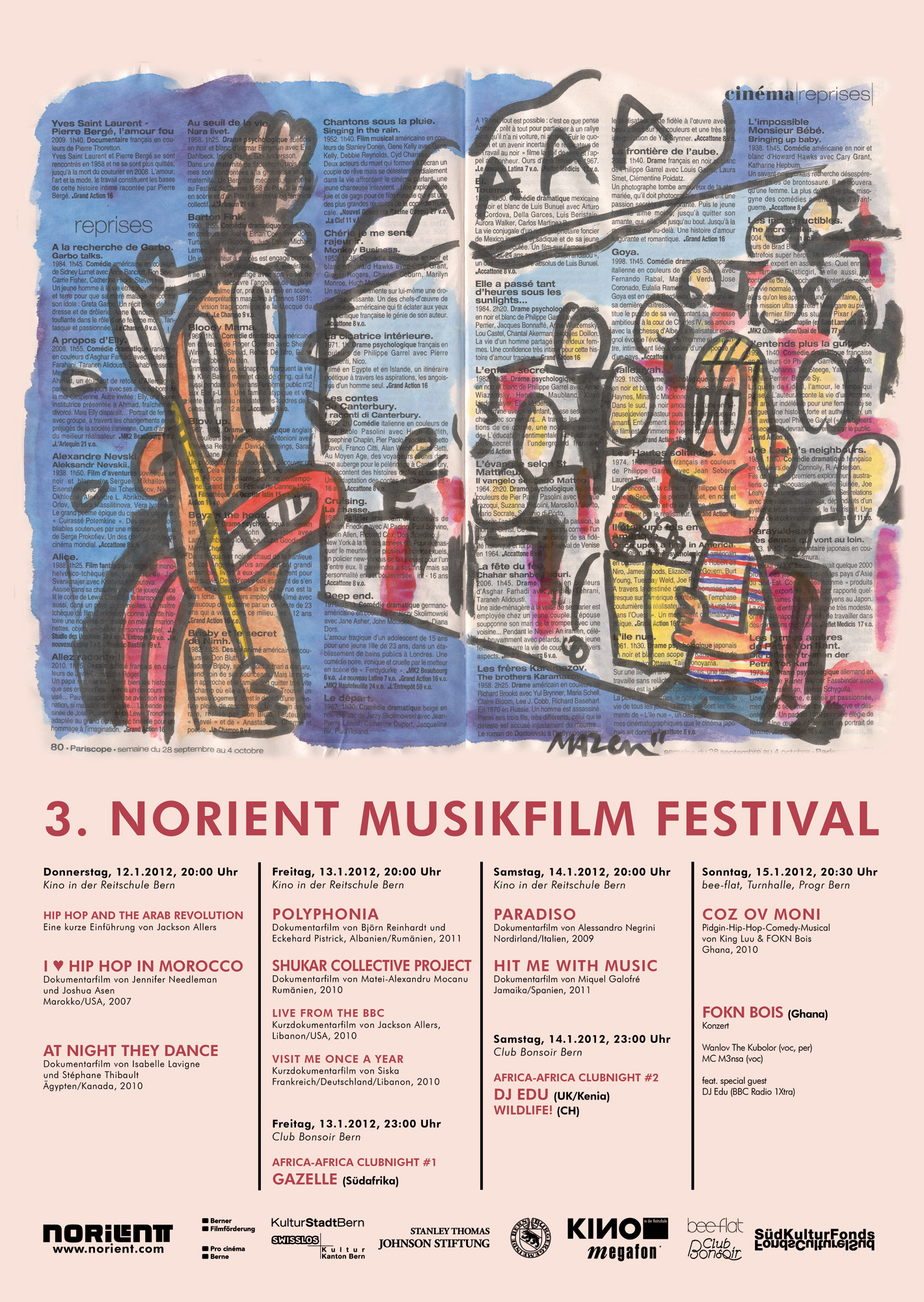 festival poster 2012 Art Design: Mazen Kerbaj (Lebanon)