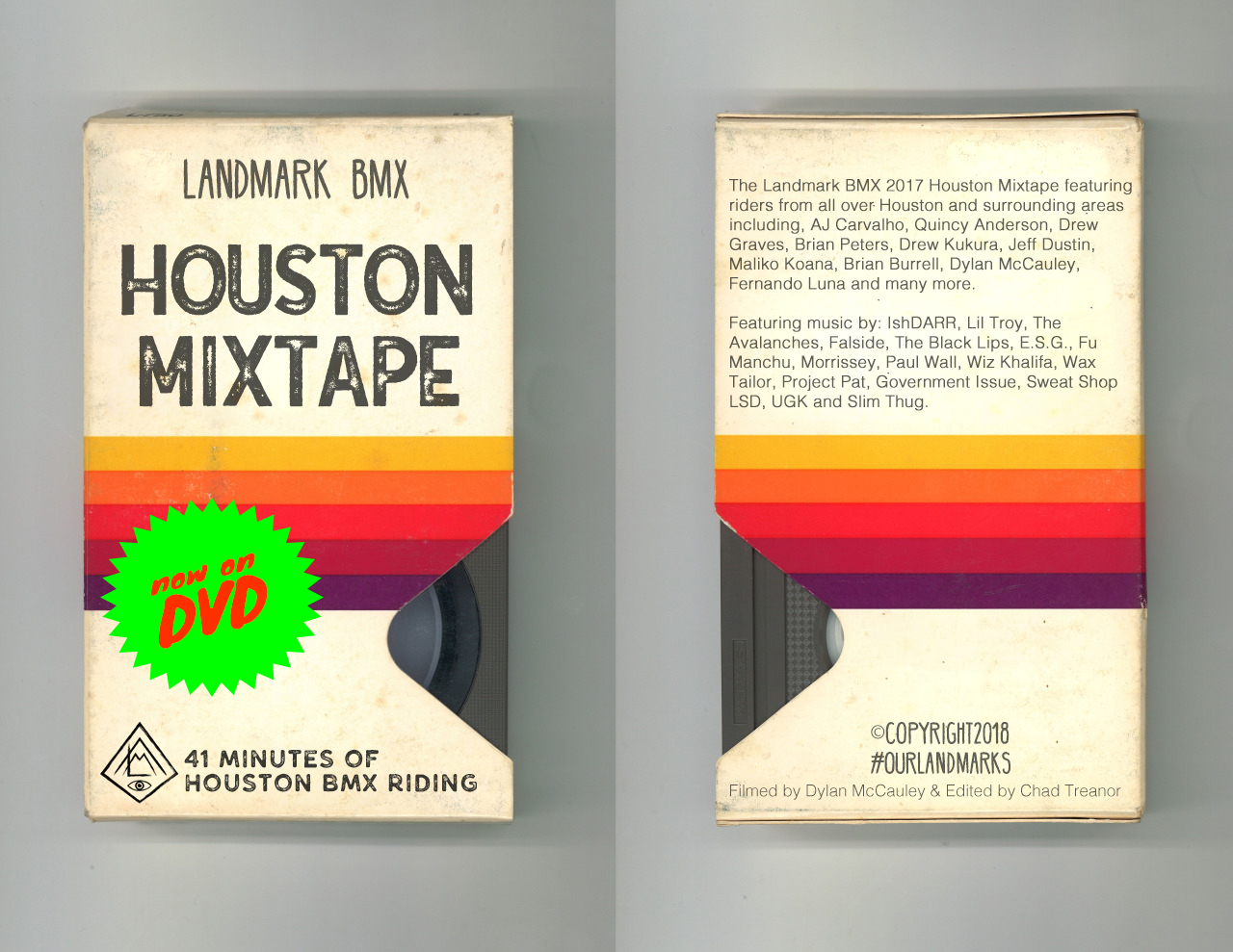 If we released the Mixtape on VHS this is probably what it'd look like, but it'll be on DVD.