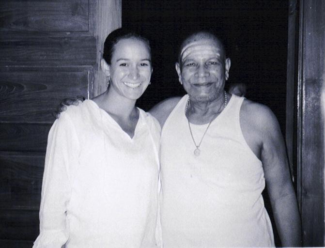 Kimberly and Sri K. Pattabhi Jois, India, 2001