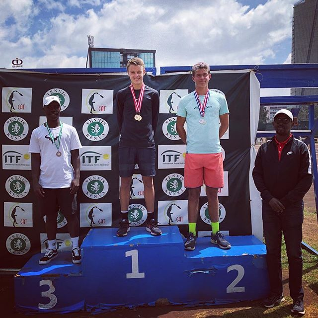 Solid week in Nairobi 🇰🇪winner of single and double with @eric_vanshel ITF G4😅🐯💪🏾🎾