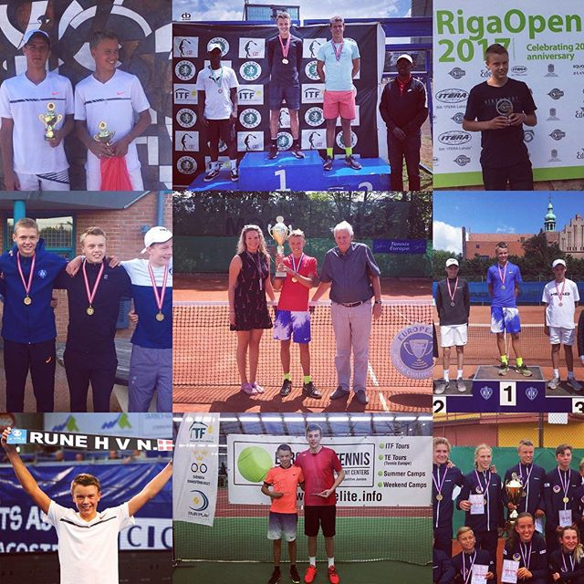 Another great year has come to and end. The @tenniseuropejuniortour has brought me many good experiences. Achieving a rank as no 1 in 2017 and winning the European championship made me work even harder to keep progressing. 2018 brings new goals, now in itf. It was a great feeling winning my first itf g4 tournaments this year and I will work hard to achieve a level to compete and do results in the higher grades. All of this is possible because of the people believing in me. So a huge thank you to my crazy family, to my coach, who endured me since I was 6, to @mouratoglou_tennis_academy and @champseedfoundation , to @nikecourt and @babolat, to my agent @wesportagency and to the people in my danish club HIK. Looking forward to 2018💪🏾⭐️🎾 #mouratogloutennisacademy #nikecourt #babolat #champseedfoundation