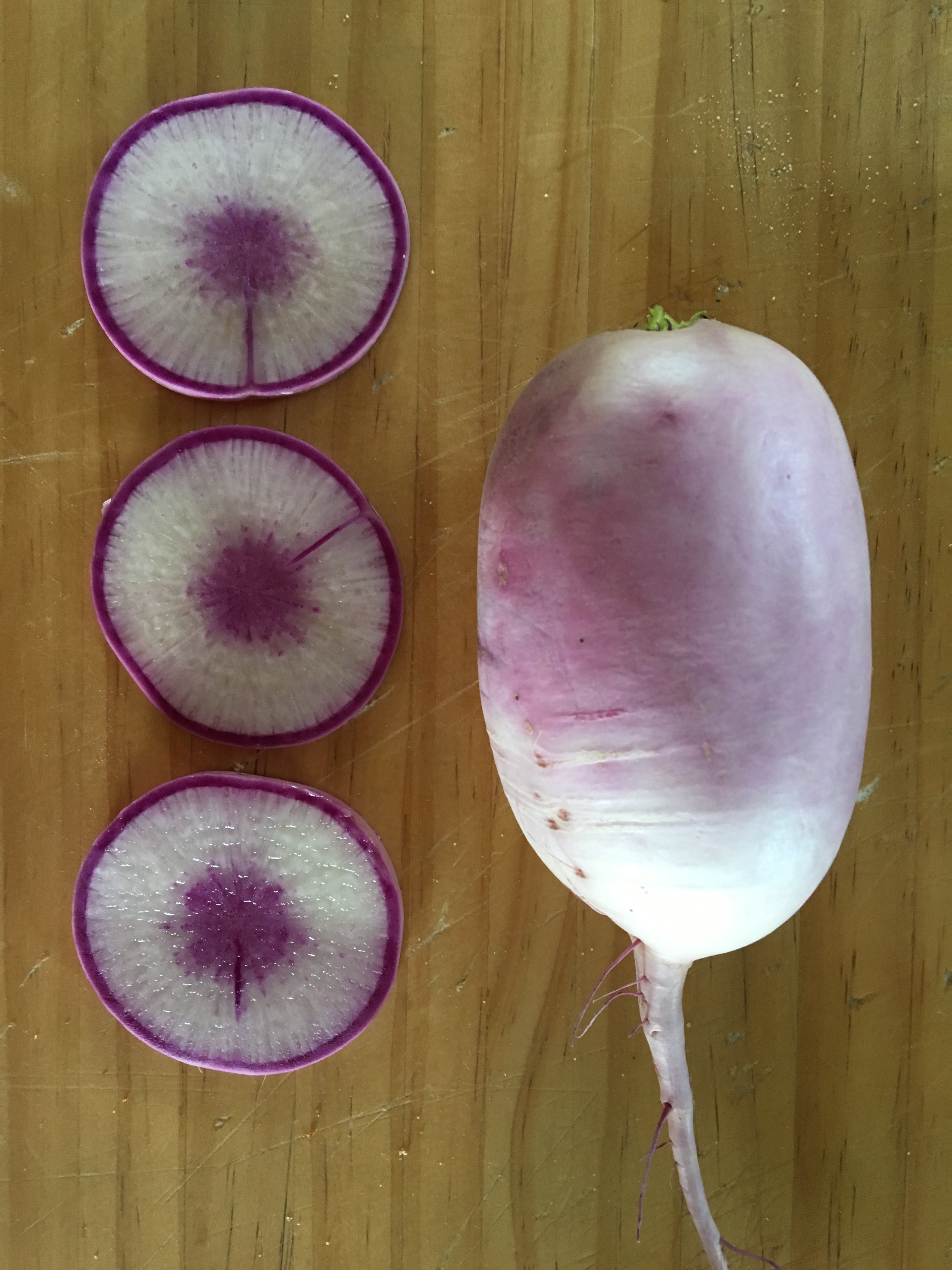 Purple Daikon... its whimsical, my favorite color and delicious to boot