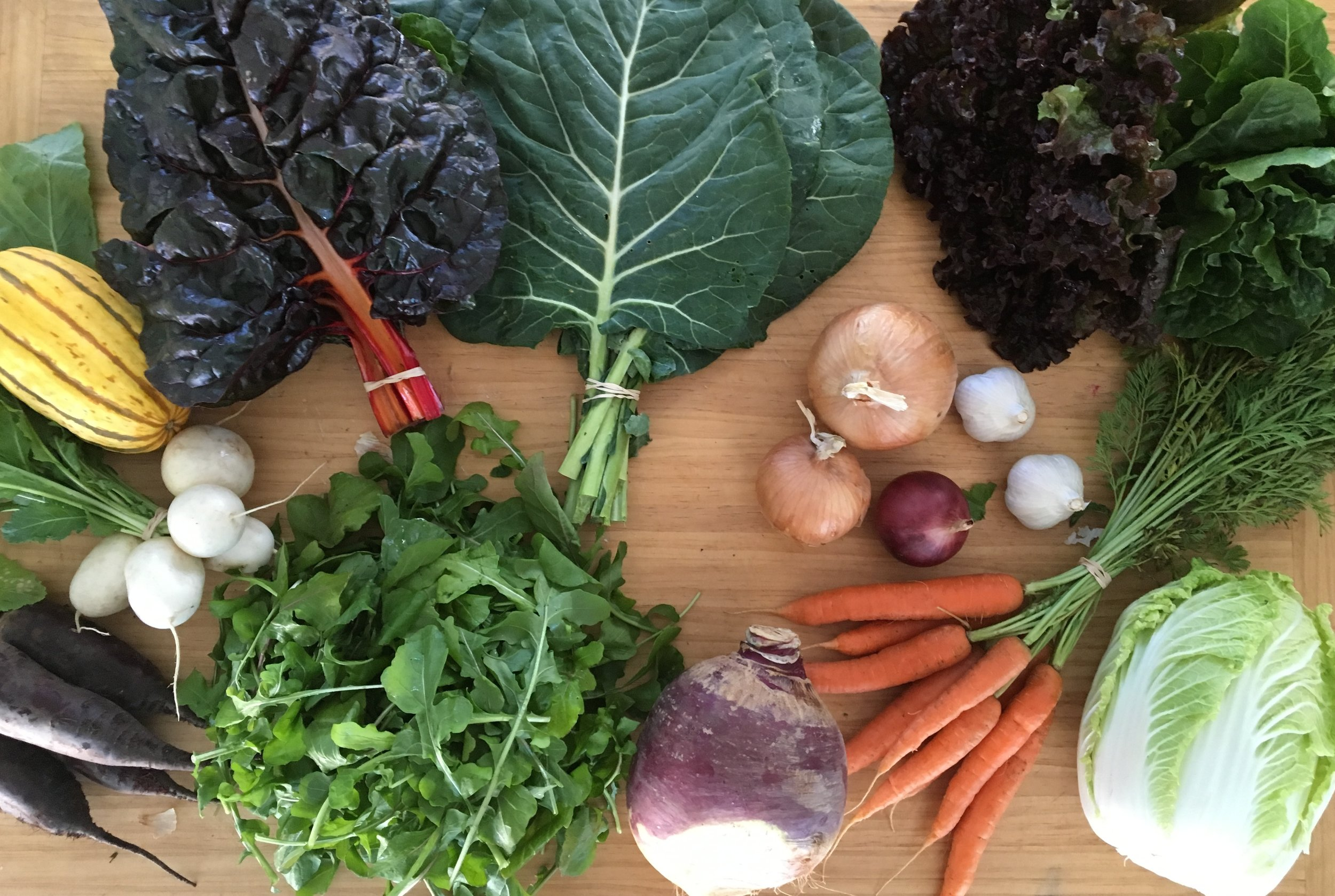 Here's a sample Fall CSA Share from last season