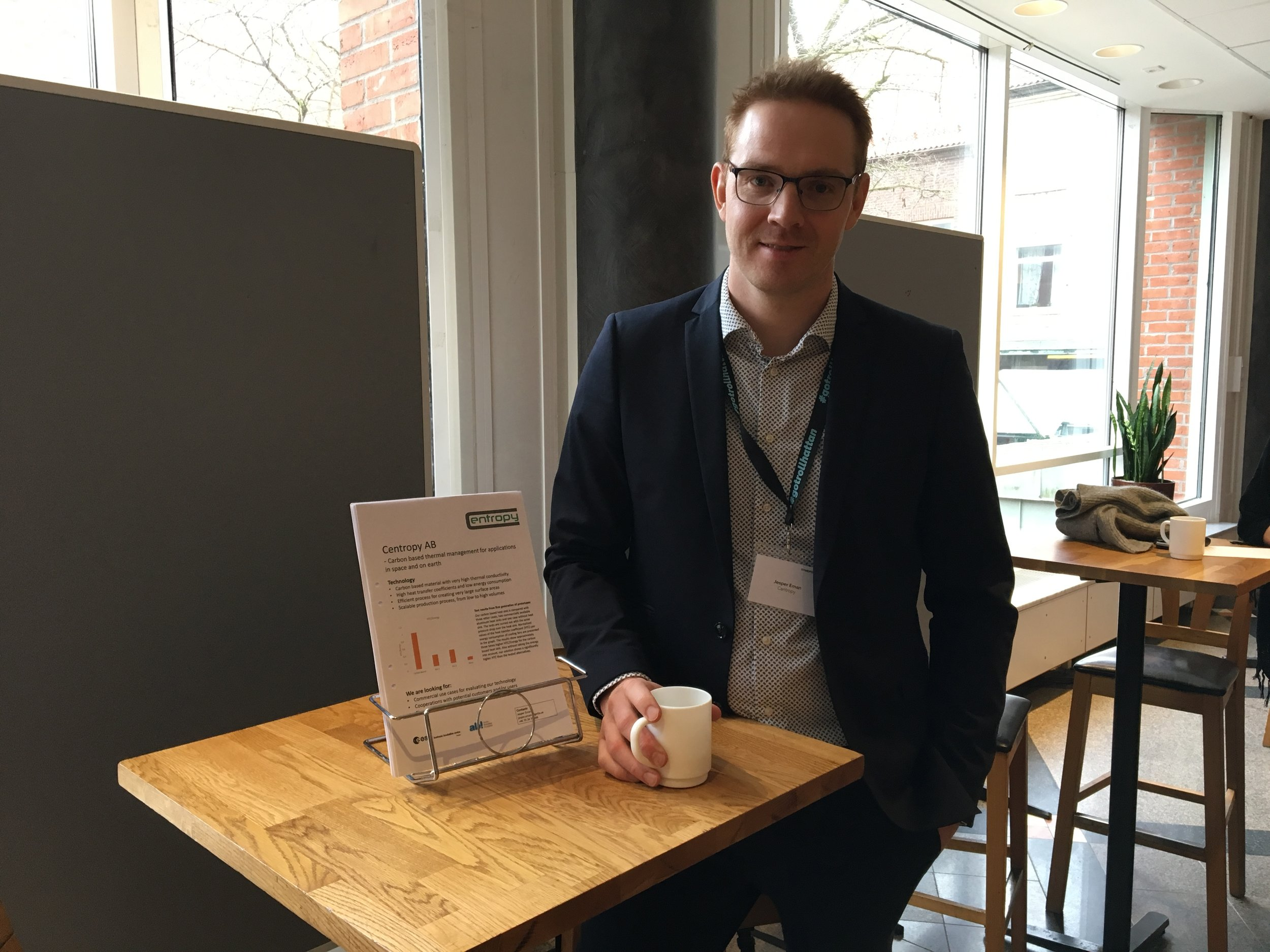 Jesper Eman grundare Centropy AB