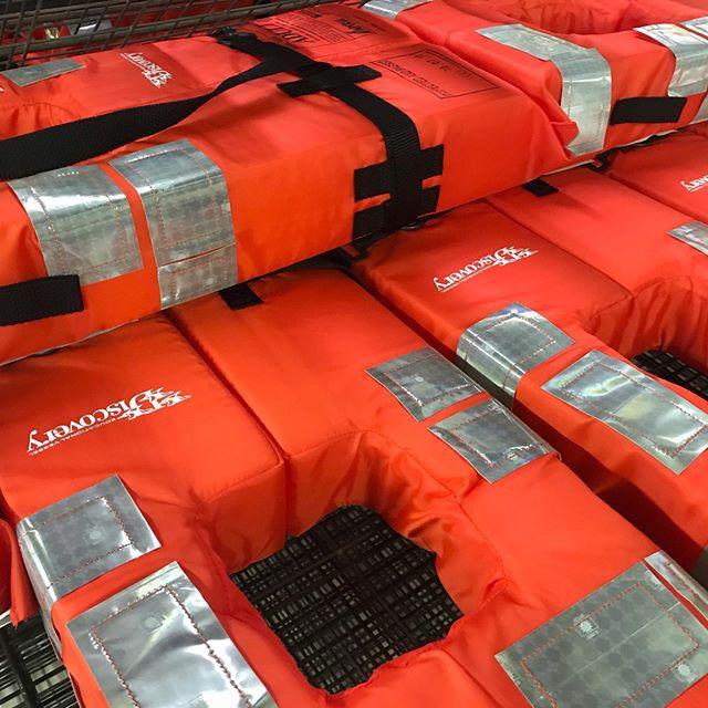 Life jackets printed