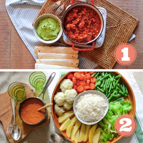 "- Meal 1 : Chili con carne, guacamole and tortilla 4,8 stars out of 5Meal 2 : Gado Gado, peanut sauce and rice 4,6 stars out of 5Clients' Comments:""All great this week!"" (Debbie)""Everything was very good. Delivery was top! if possibility to have also 2 meat dishes it would be nice too!"" (Laura)"