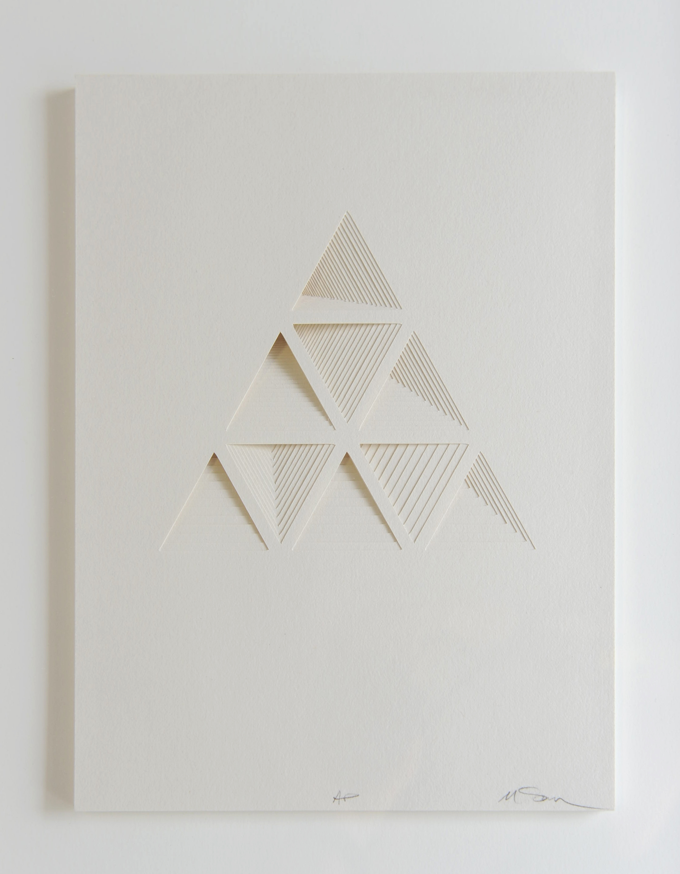Ghostly Process Series: Triangles Extruded