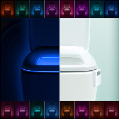 Lumilux Advanced 16-Color Toilet Light, $14.95 (also available on Amazon and eligible for Prime!!).