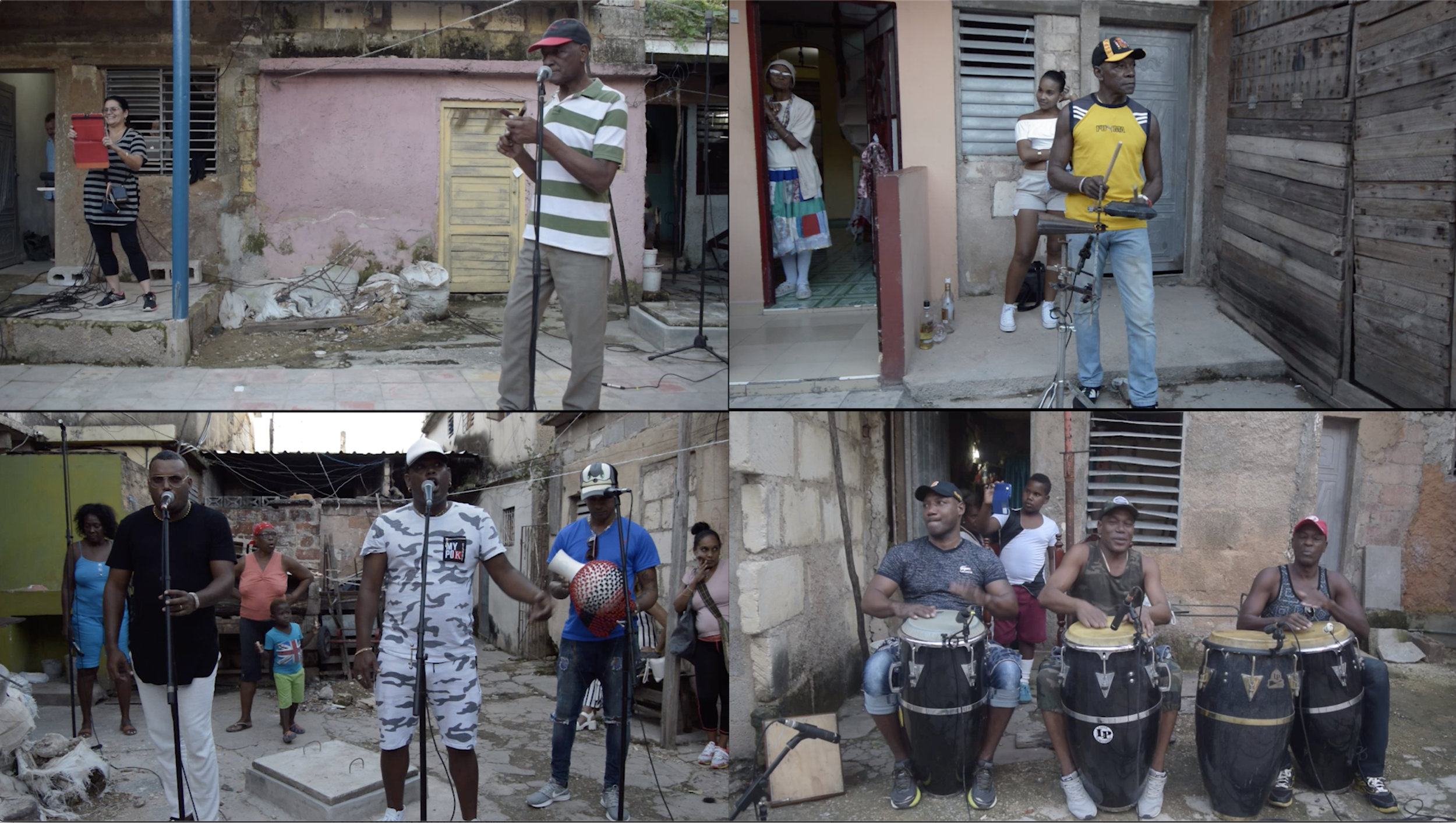 Afro Cuban Music Room Muñequitos Split Screen.jpg