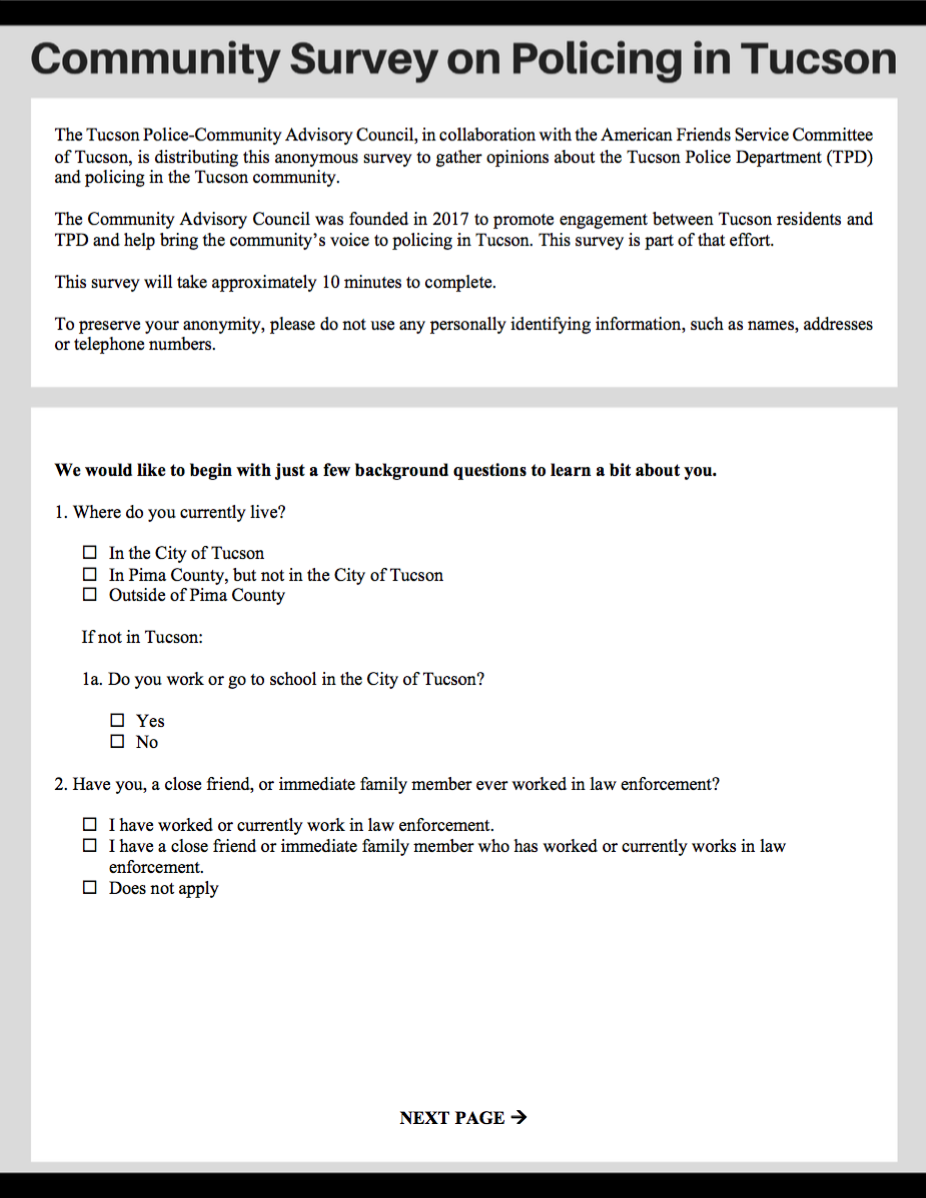 Download a Printable Copy of the Survey (Click Here for Spanish Version) -