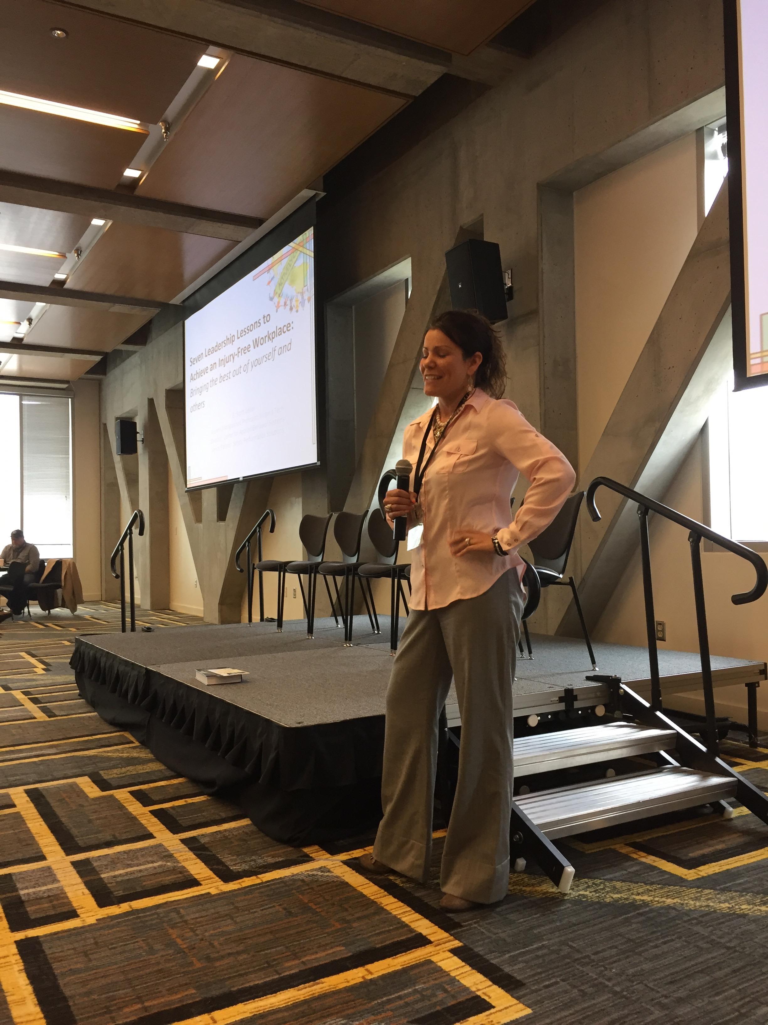 Krista Geller (Bechtel Corporation) conducting a break-out session.