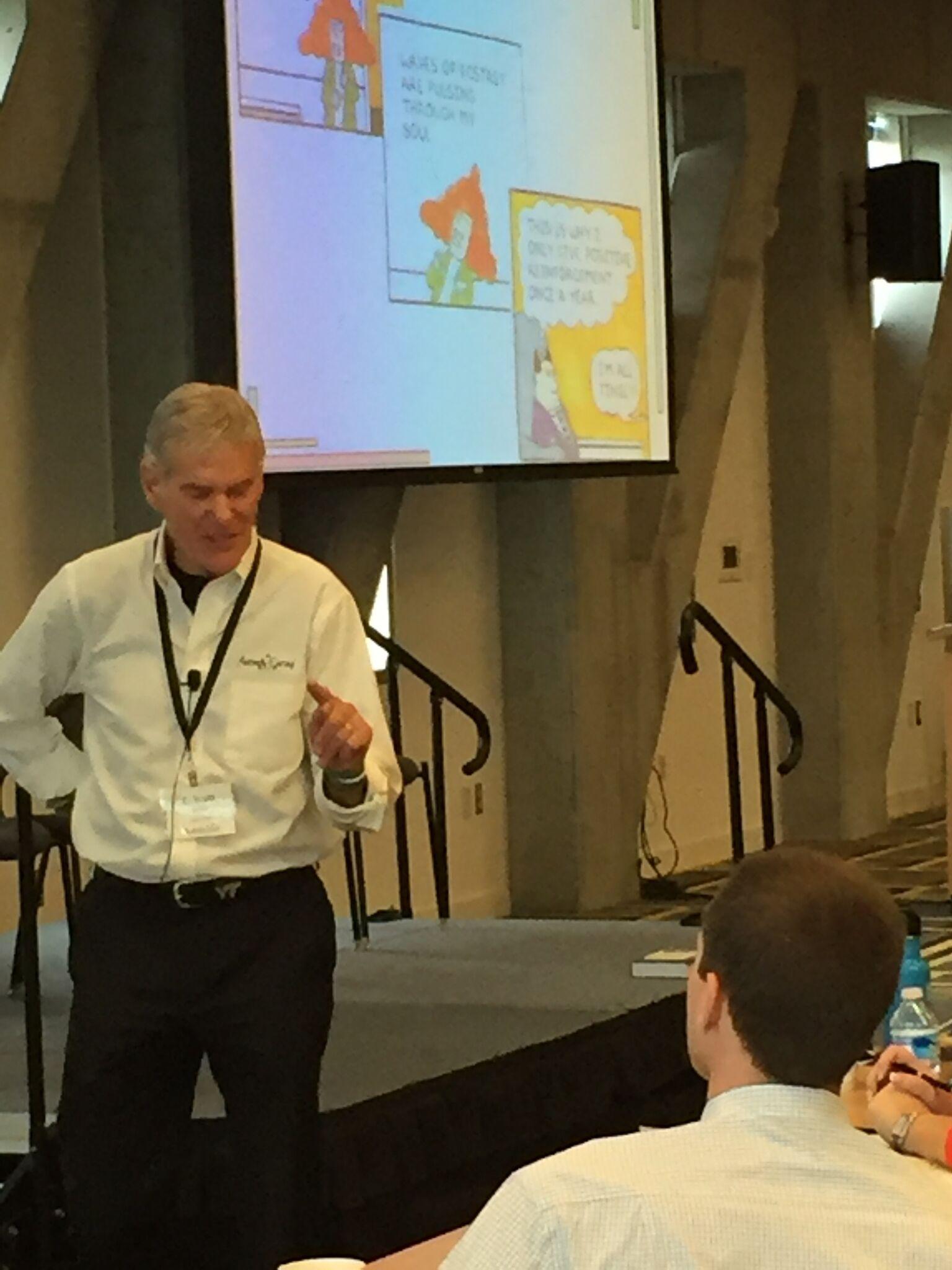 """Dr. E. Scott Geller delivering his """"Seven Lessons for Effective Safety Leadership"""" presentation."""