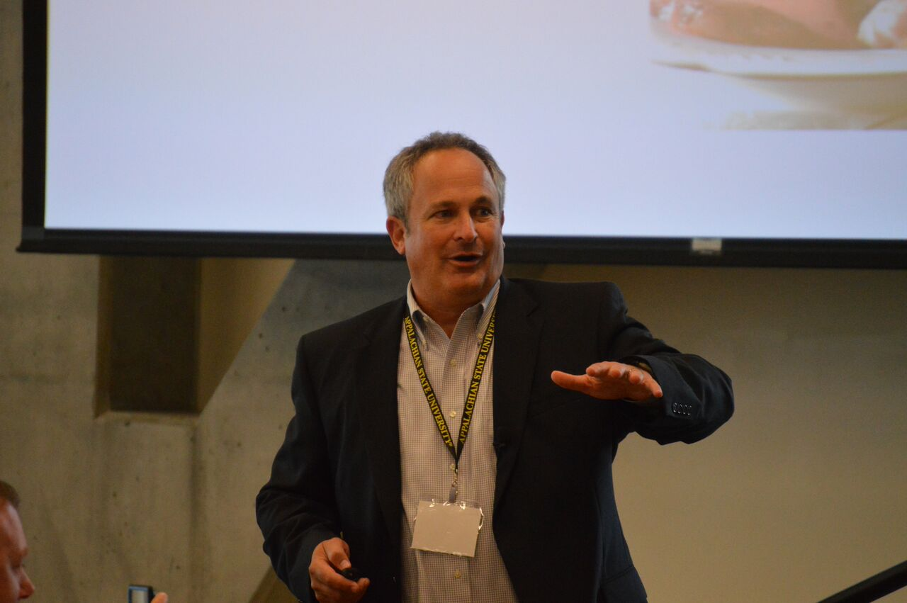 """Dr. Timothy Ludwig explaining the concept of """"Below Zero."""""""