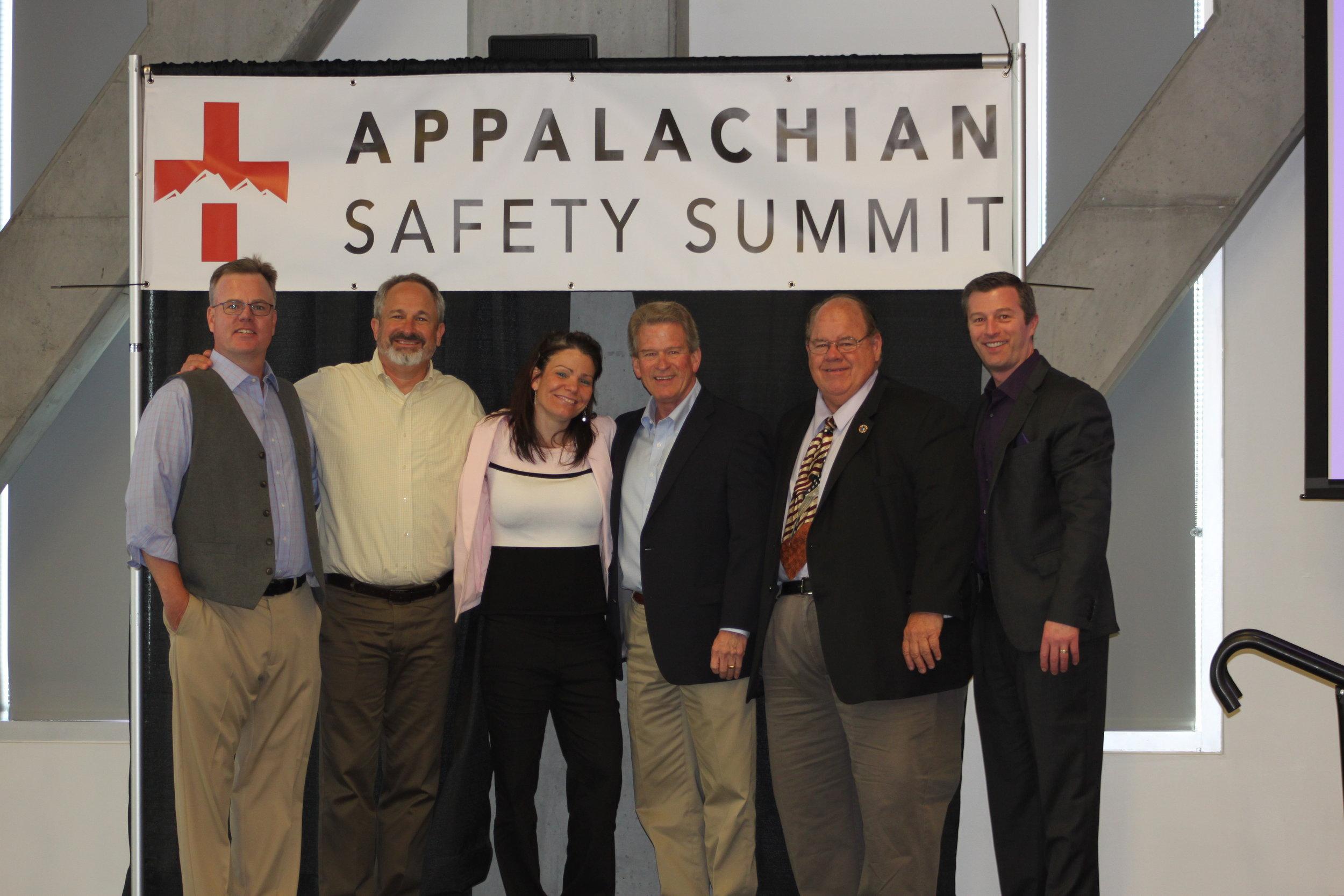 From left to right: Dr. Josh WIlliams, Dr. Timothy Ludwig, Dr. Krista S. Geller, Richard Pollock, John Drebinger and Dr. Shawn Bergman