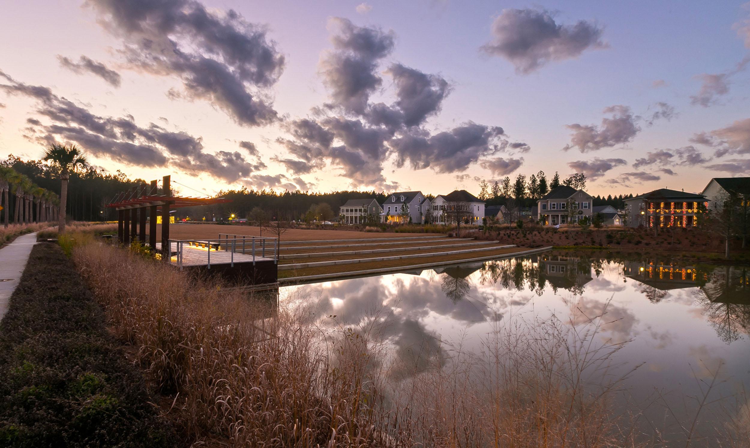 Brighton Park at Sunset