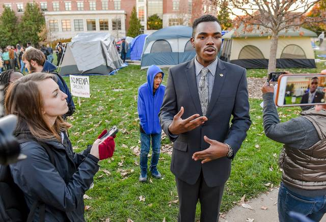 Payton Head, president of the Missouri Students Association. Photo:  Allison Long.