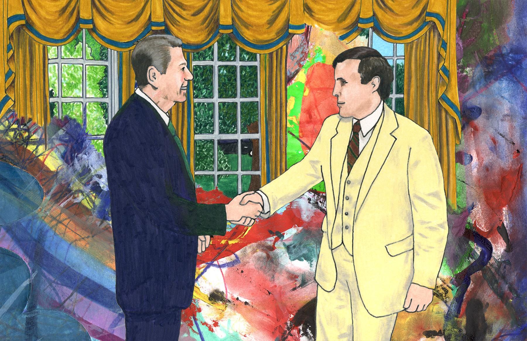 Ronald Reagan and Rudolph Giuliani