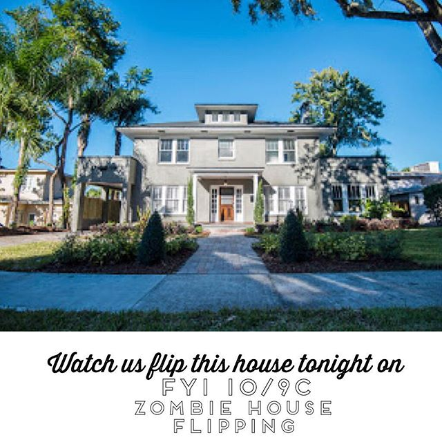 WATCH @ashlee_casserly AND @fliporlando from Blueprint Real Estate Group FLIP THIS HISTORIC HOME ON FYI tonight at 10/9c - super cool 1920s historic home flip! It gets crazy! @fyi #brokerage #flippers #orlando #realtors #sellyourhouse #designers #customhomes #listyourhome #floridarealestate #realestate #houseflip #historicdistrict #historichome #lakefront #mansion #retreat #carreramarble